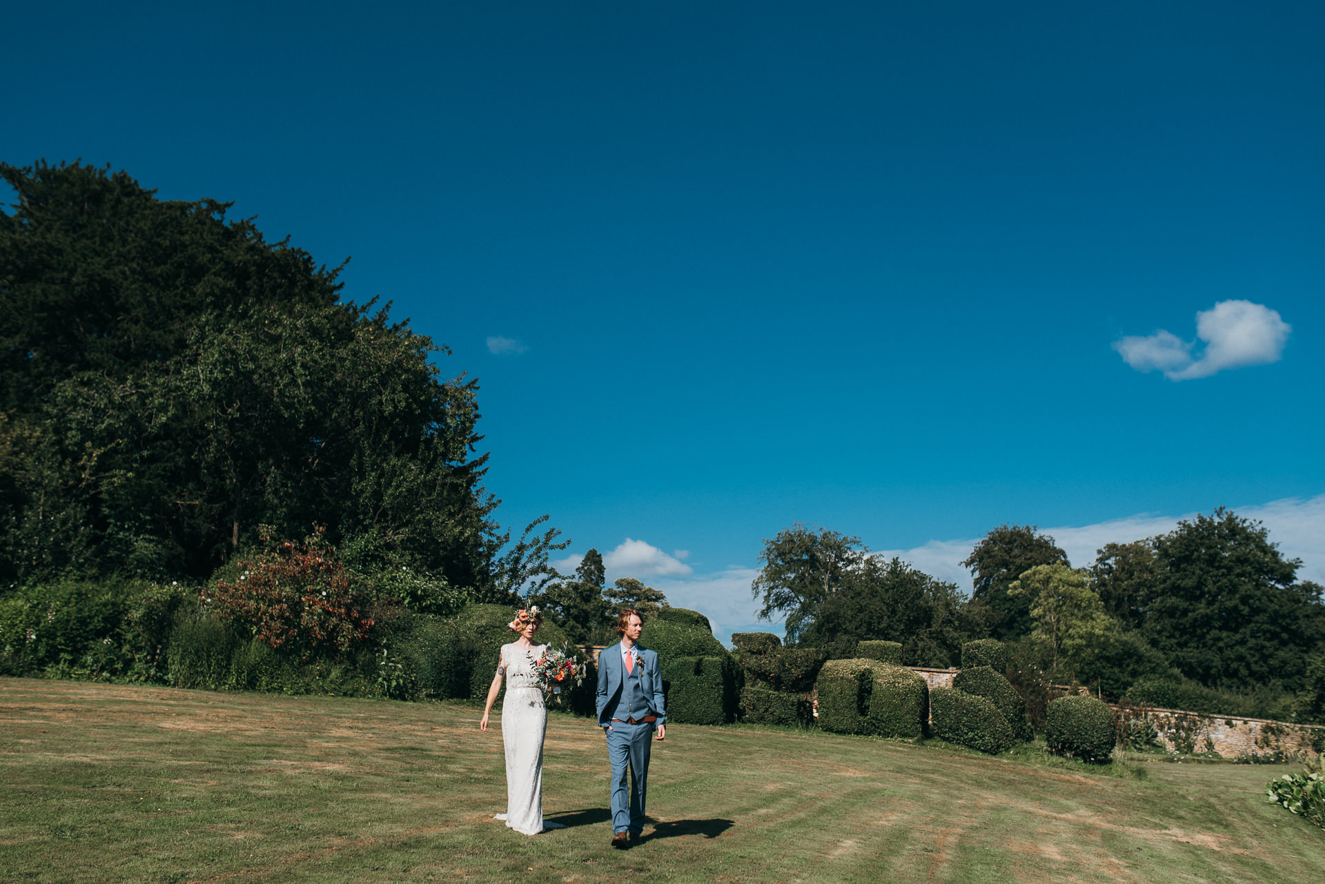 Bride and Groom Pennard house wedding