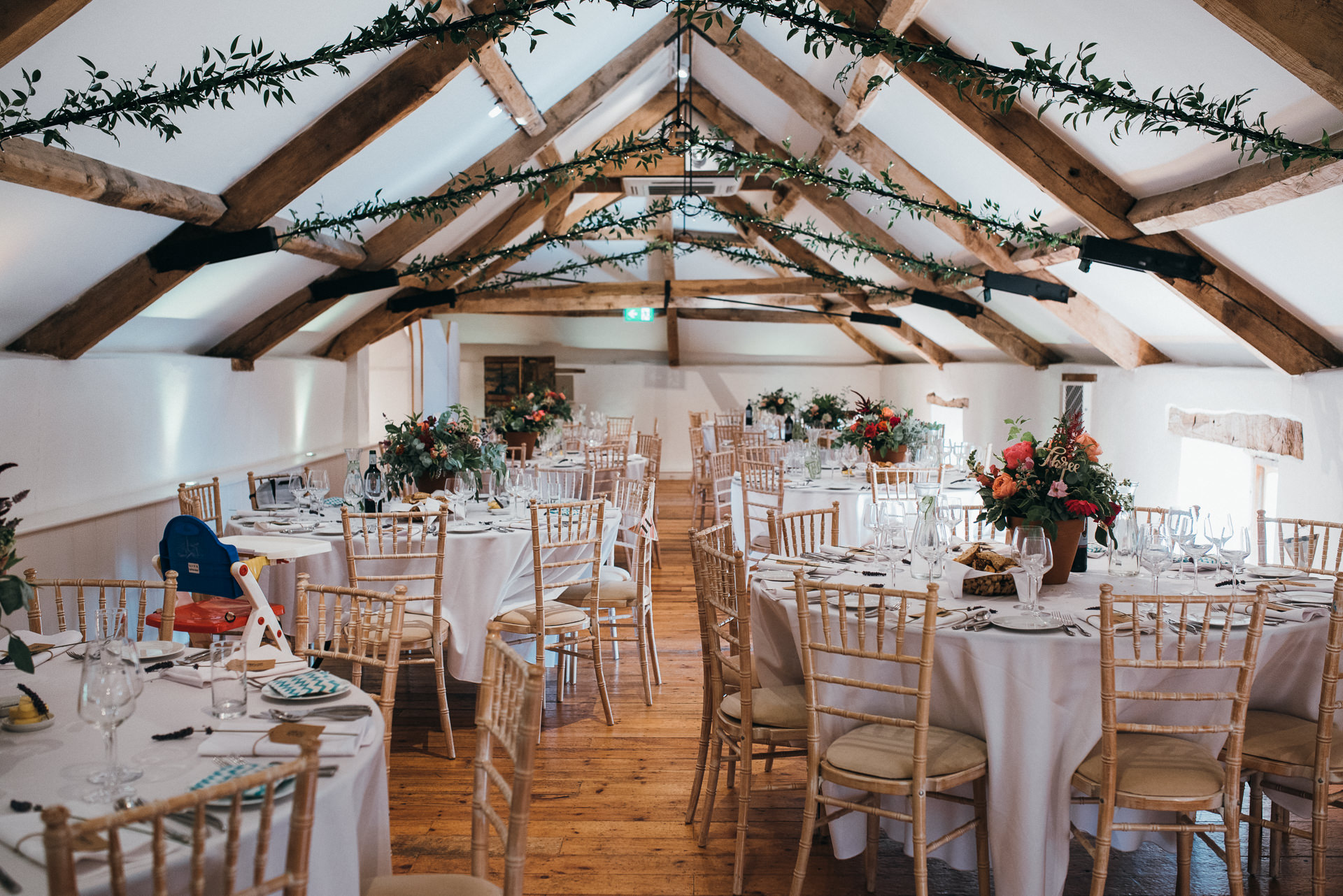 Pennard house wedding breakfast room