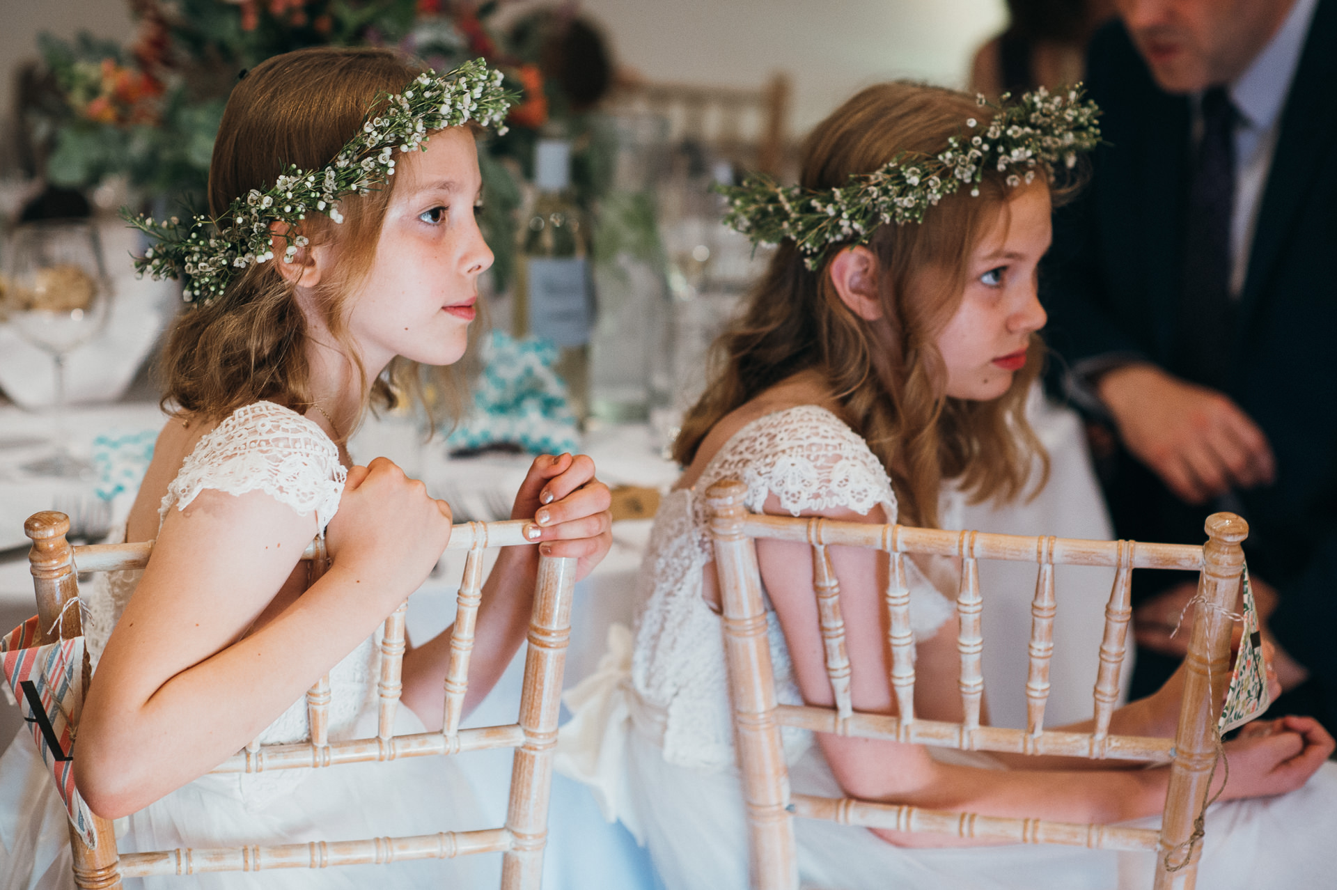Flower girls at Pennard house wedding