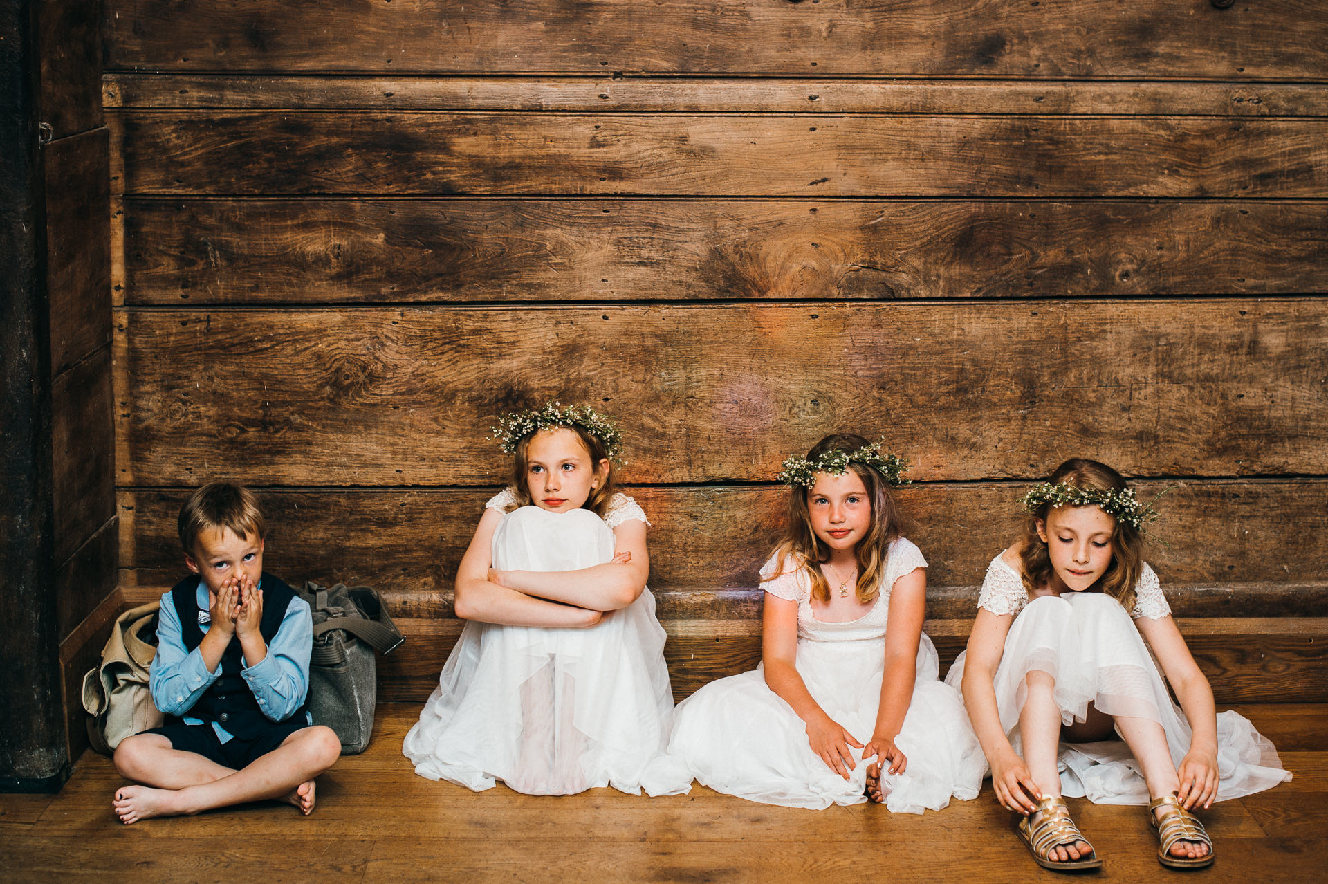 Kids at Pennard house wedding