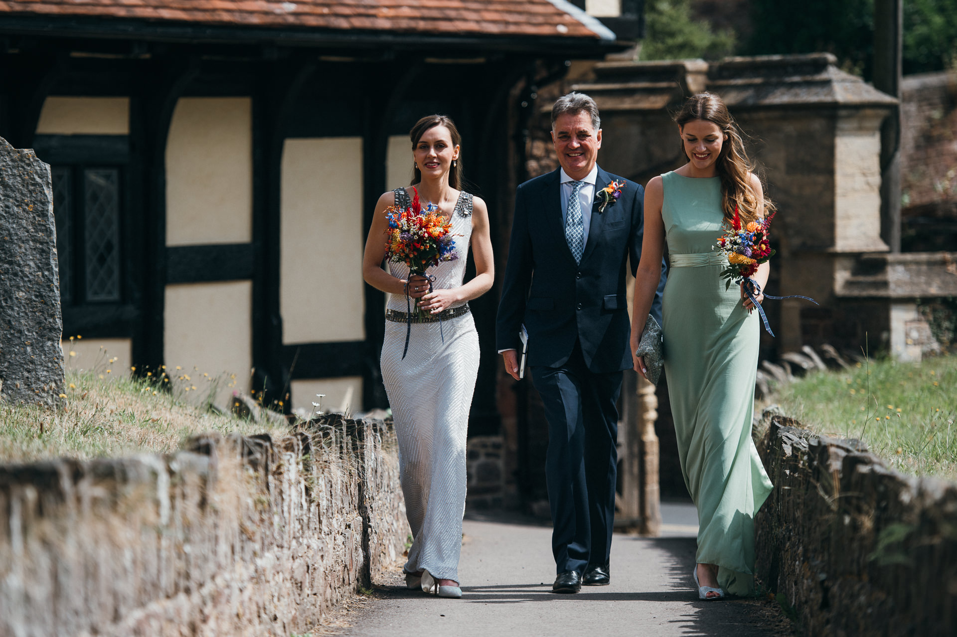 Dunster church wedding photography