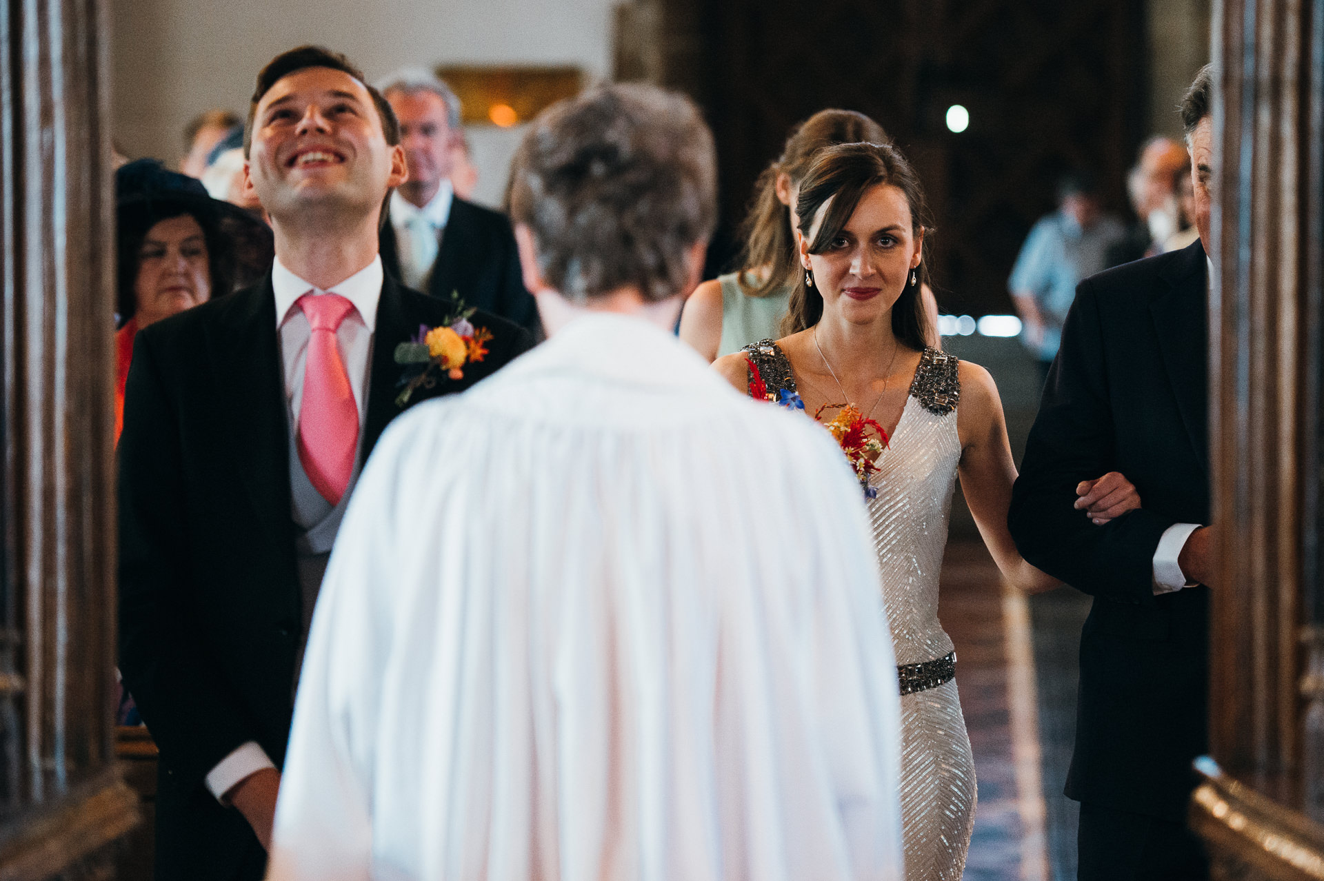 Dunster church wedding ceremony
