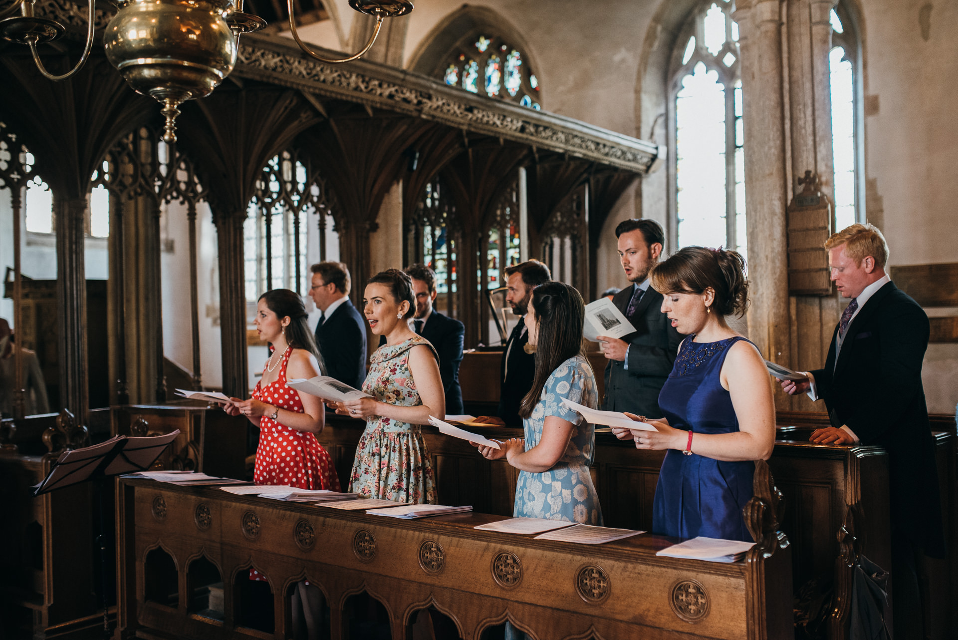 Dunster church wedding choir