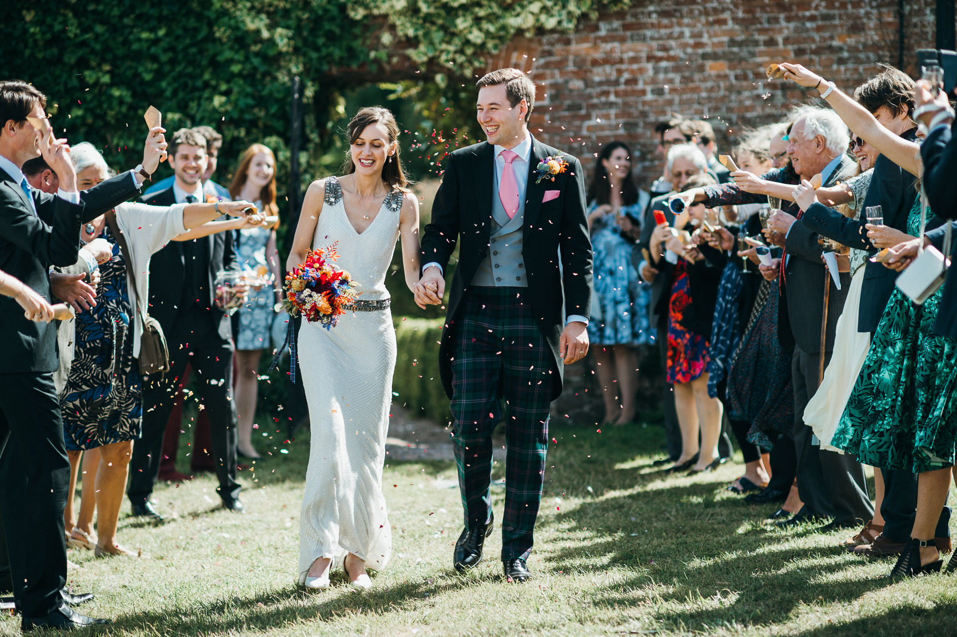 Dunster Tithe barn wedding confetti