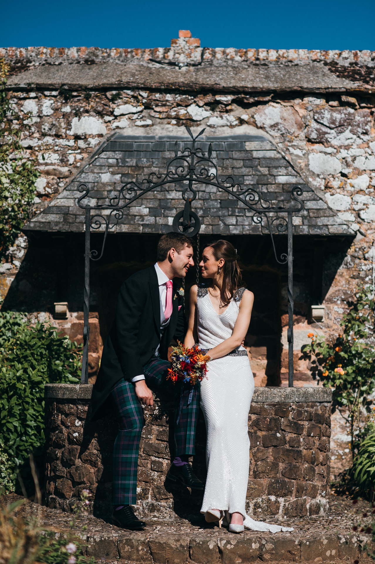 Wedding photographer Dunster Tithe Barn
