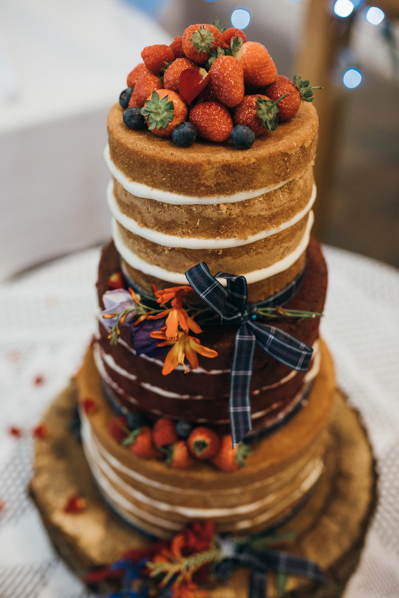 Wedding sponge cake
