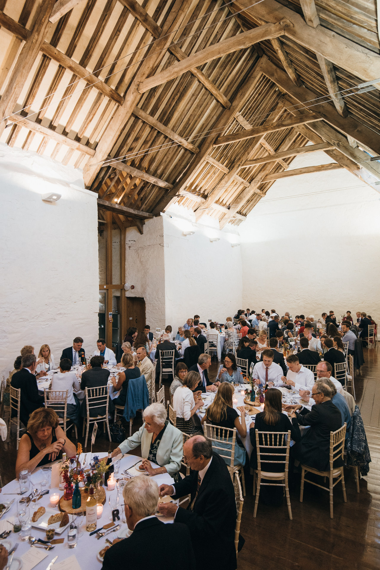 Wedding breakfast Dunster Tithe Barn