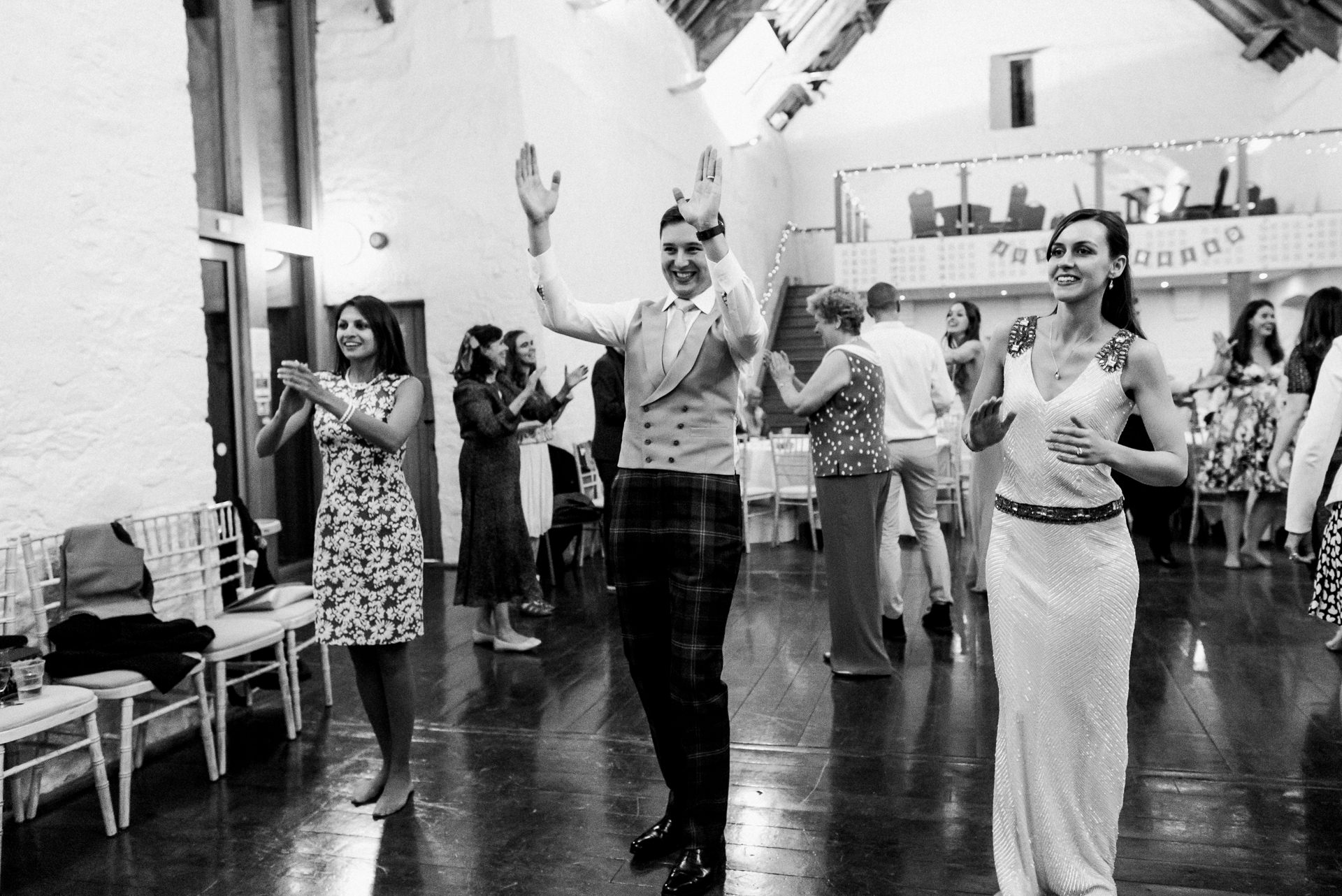 Dunster tithe barn ceilidh dancing