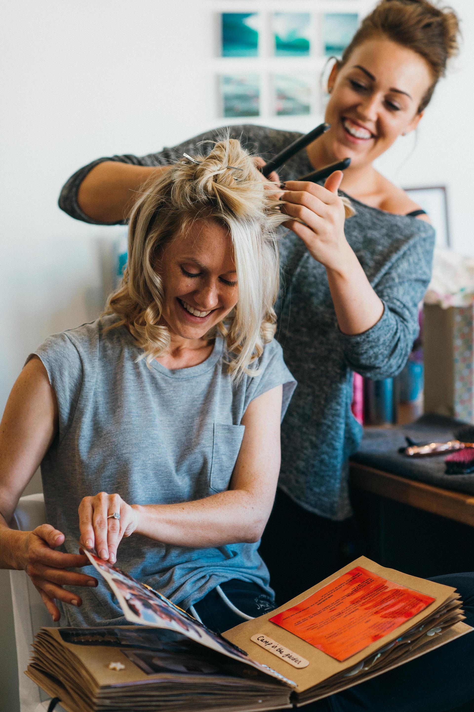 Bridal hair photography