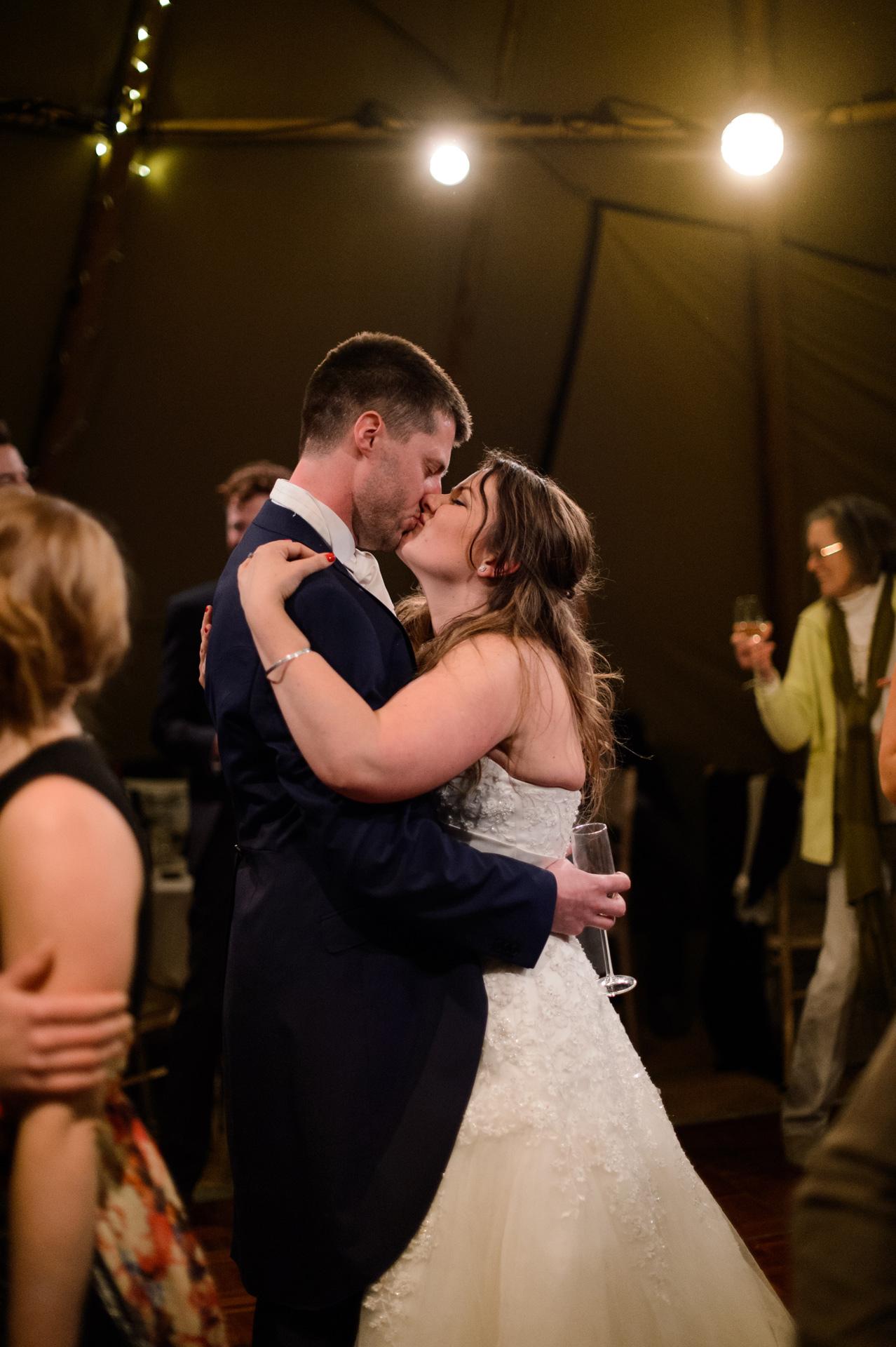 bride with groom Domvilles Farm