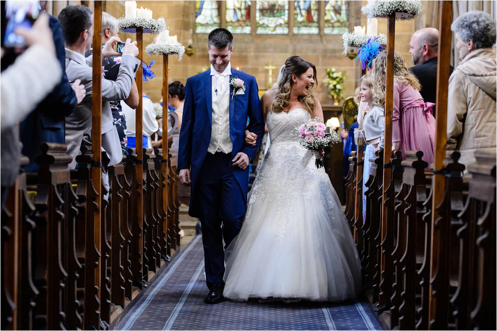 just married church wedding