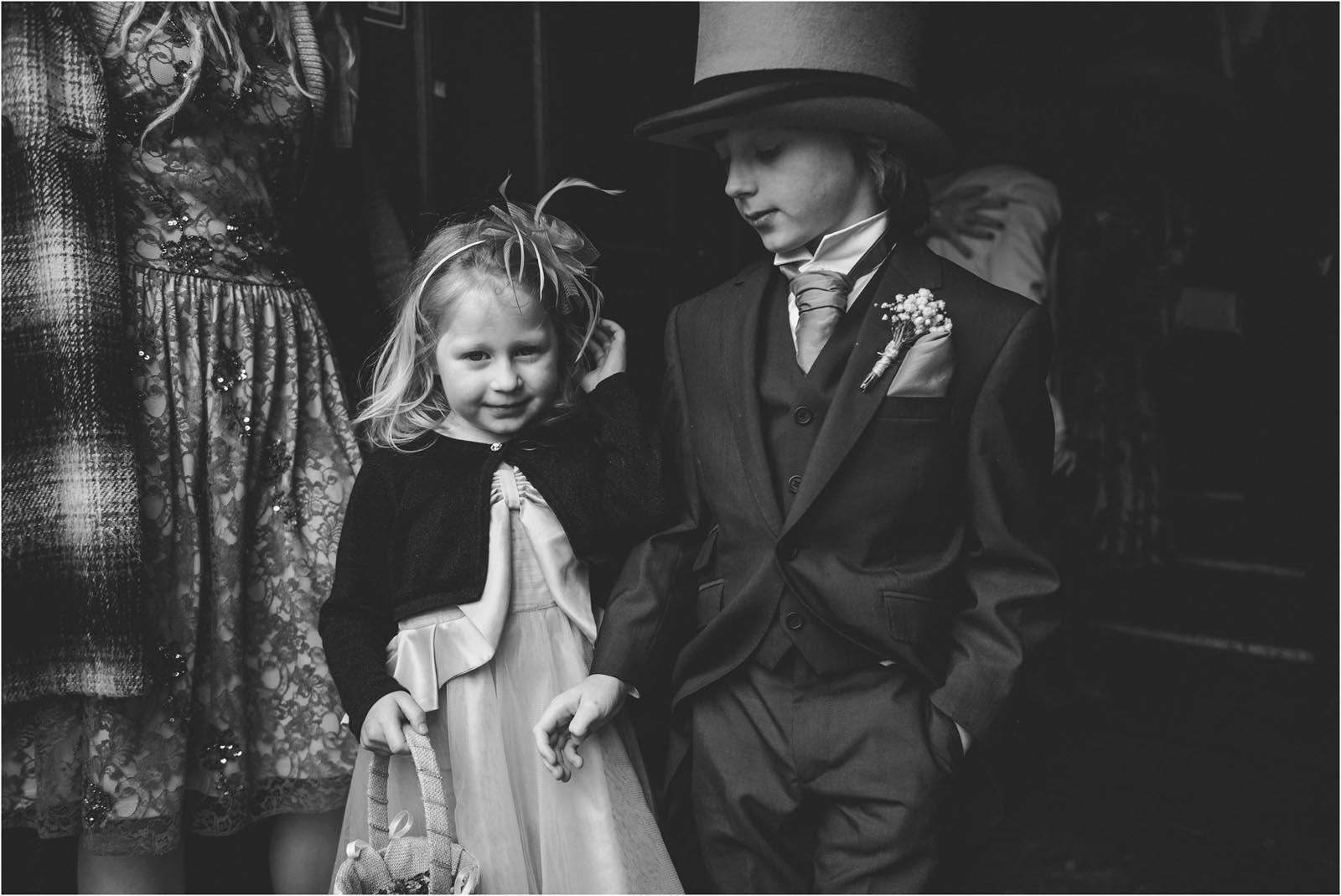 children at church wedding