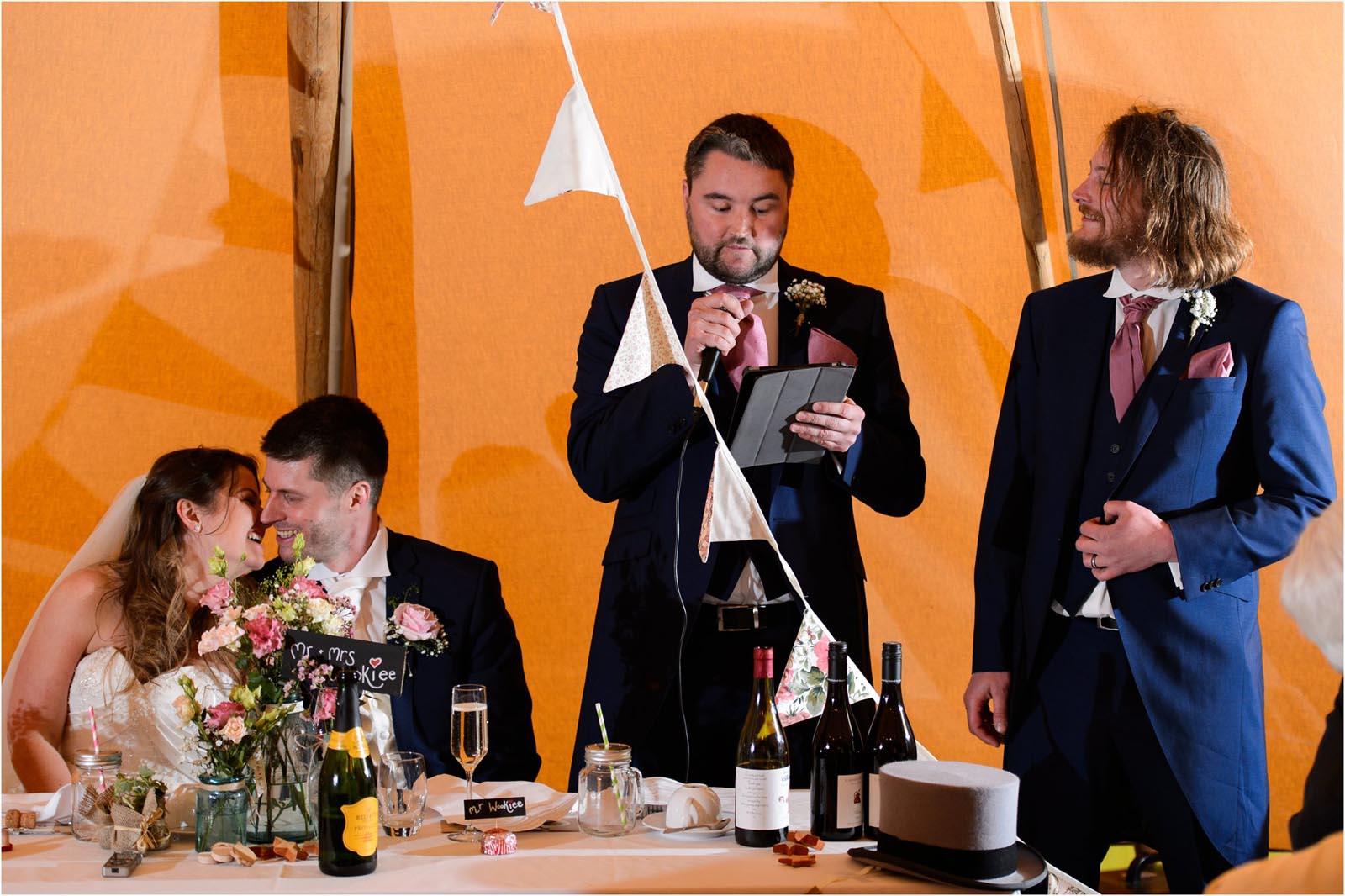 wedding speeches Domvilles Farm