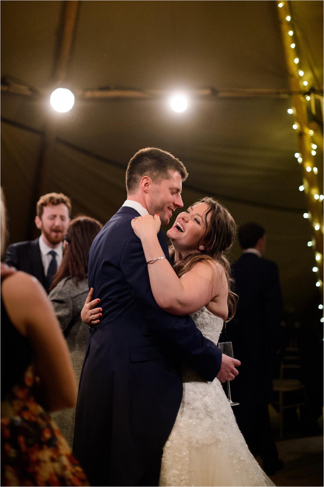 bride with groom dance Domvilles Farm