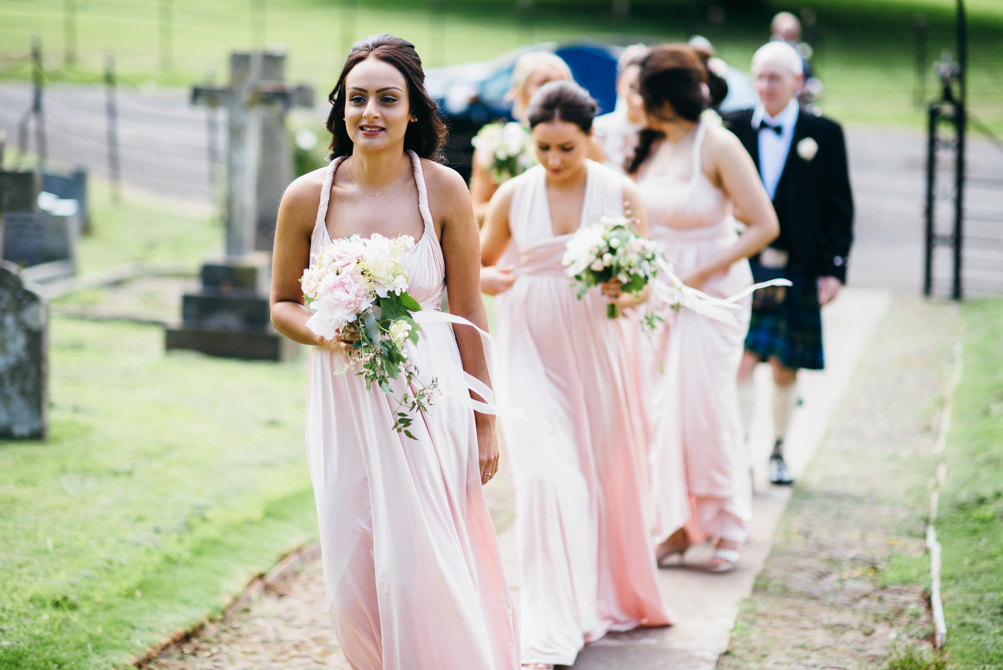 bridesmaids at St audries park wedding