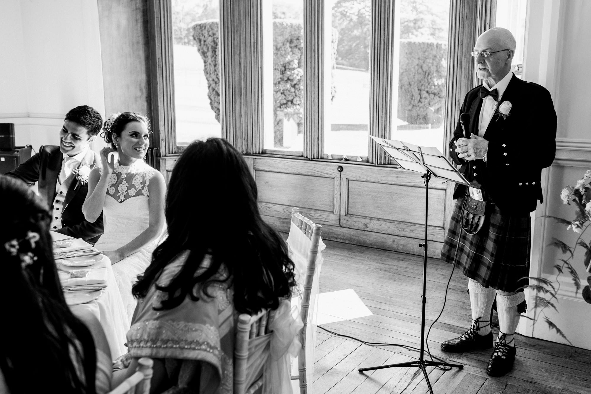 Wedding speech at St Audries