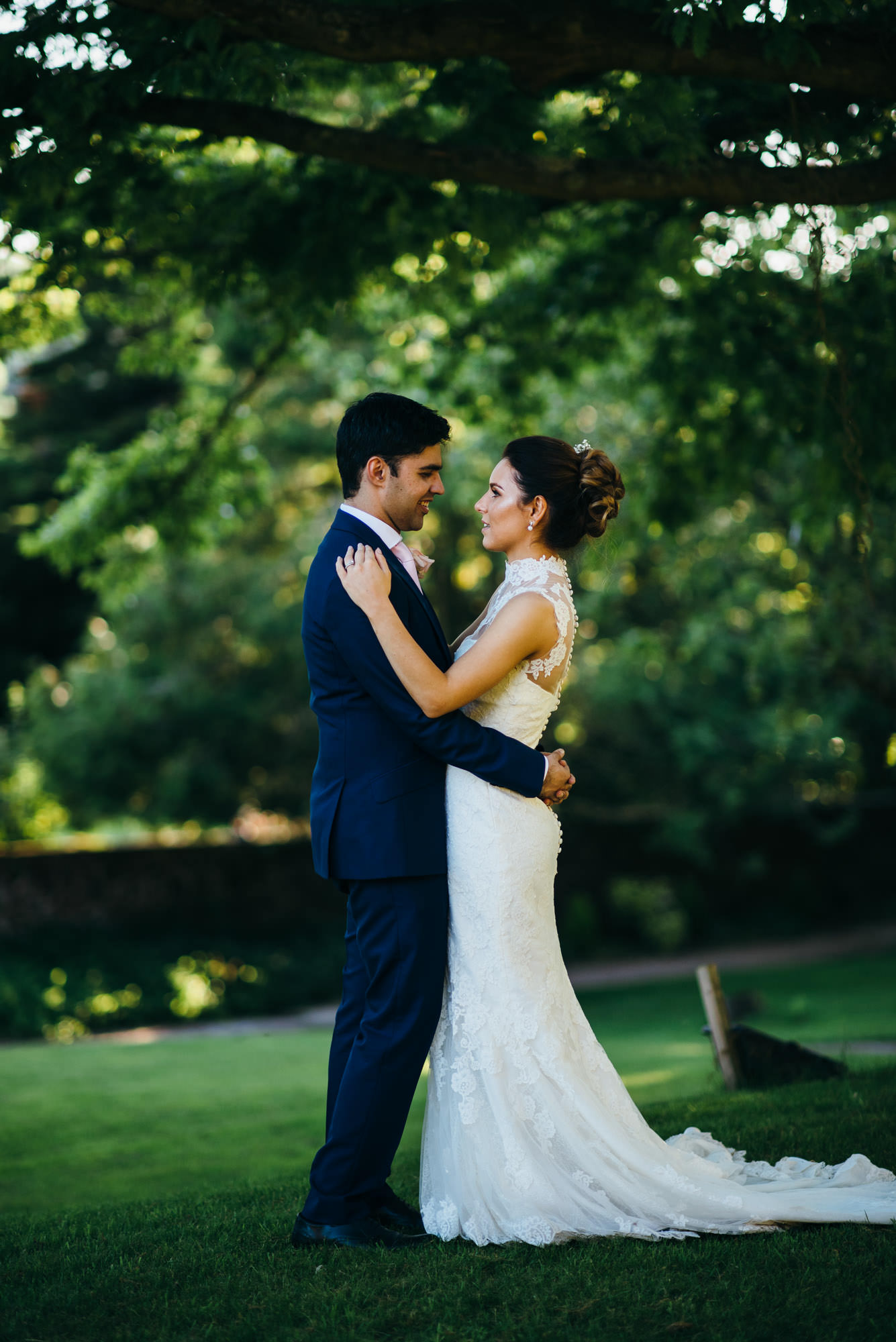 St Audries Park wedding couple