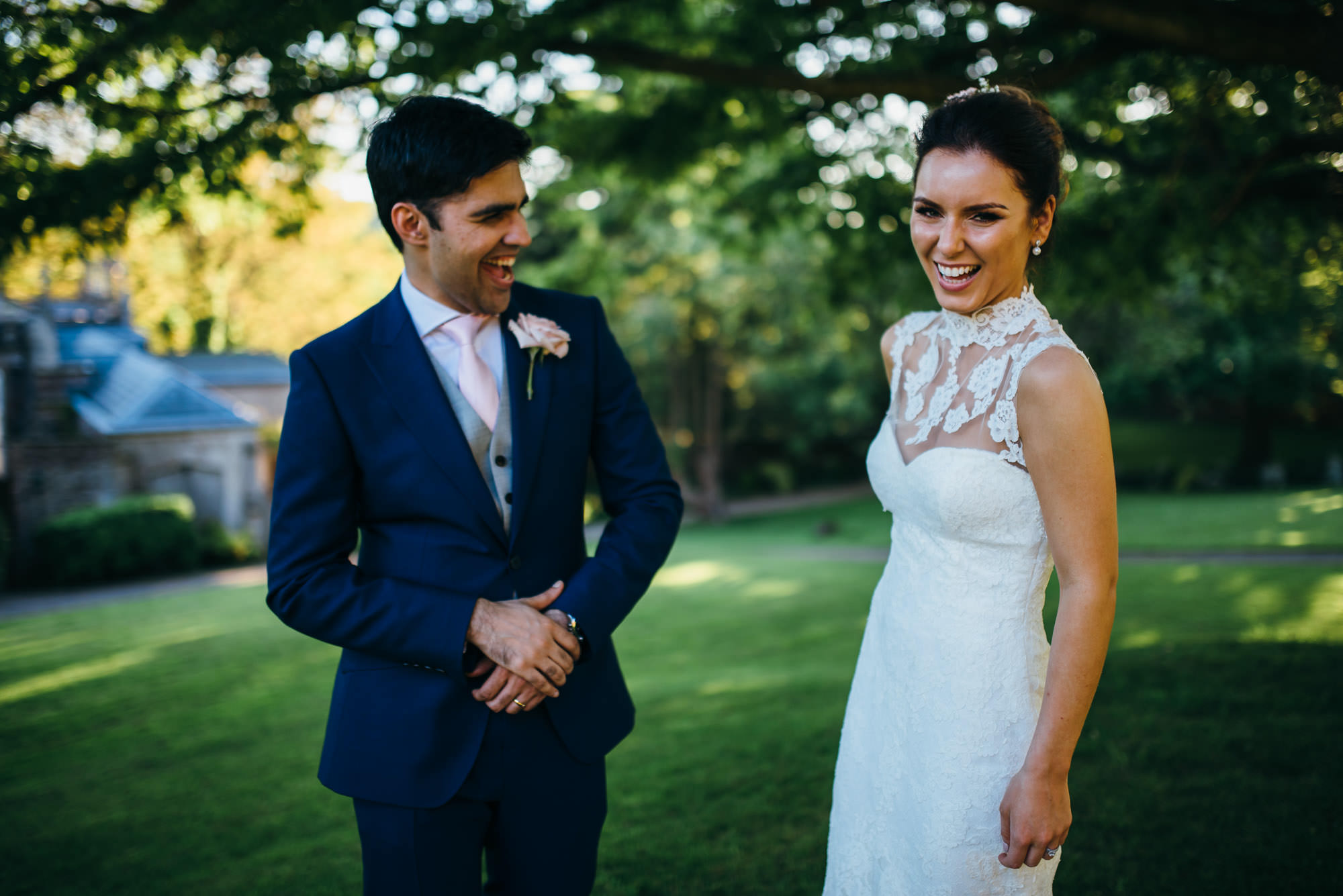 Couple at St Audries Park wedding