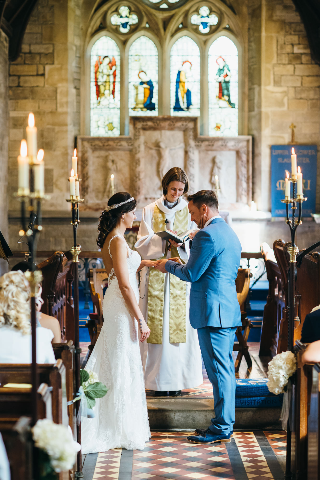 Wedding photographer St Marys Church, Lower Slaughter