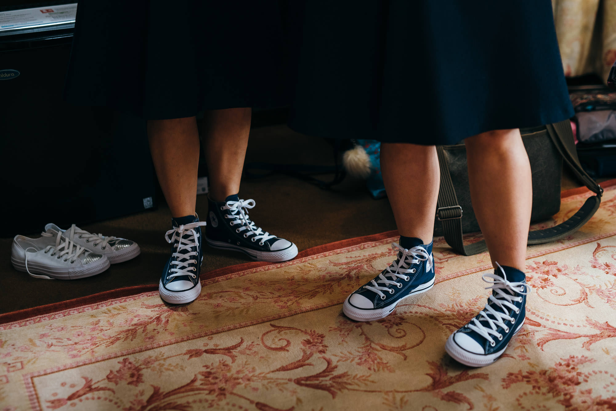Bridesmaids in converse shoes