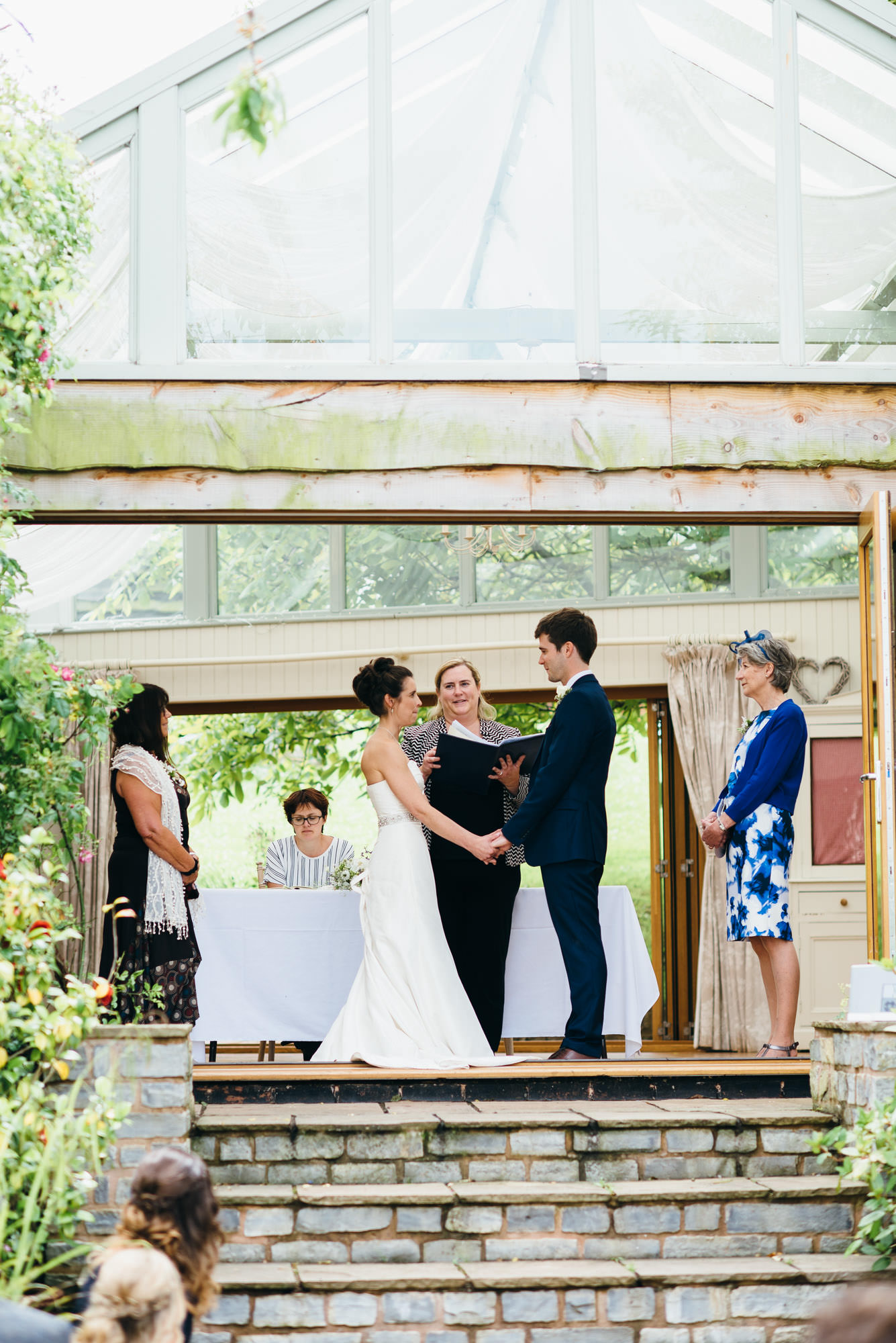 Huntstile organic farm wedding ceremony