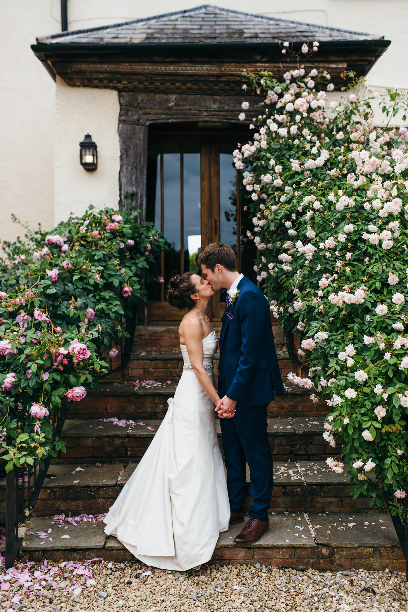 newlyweds Huntstile organic farm wedding