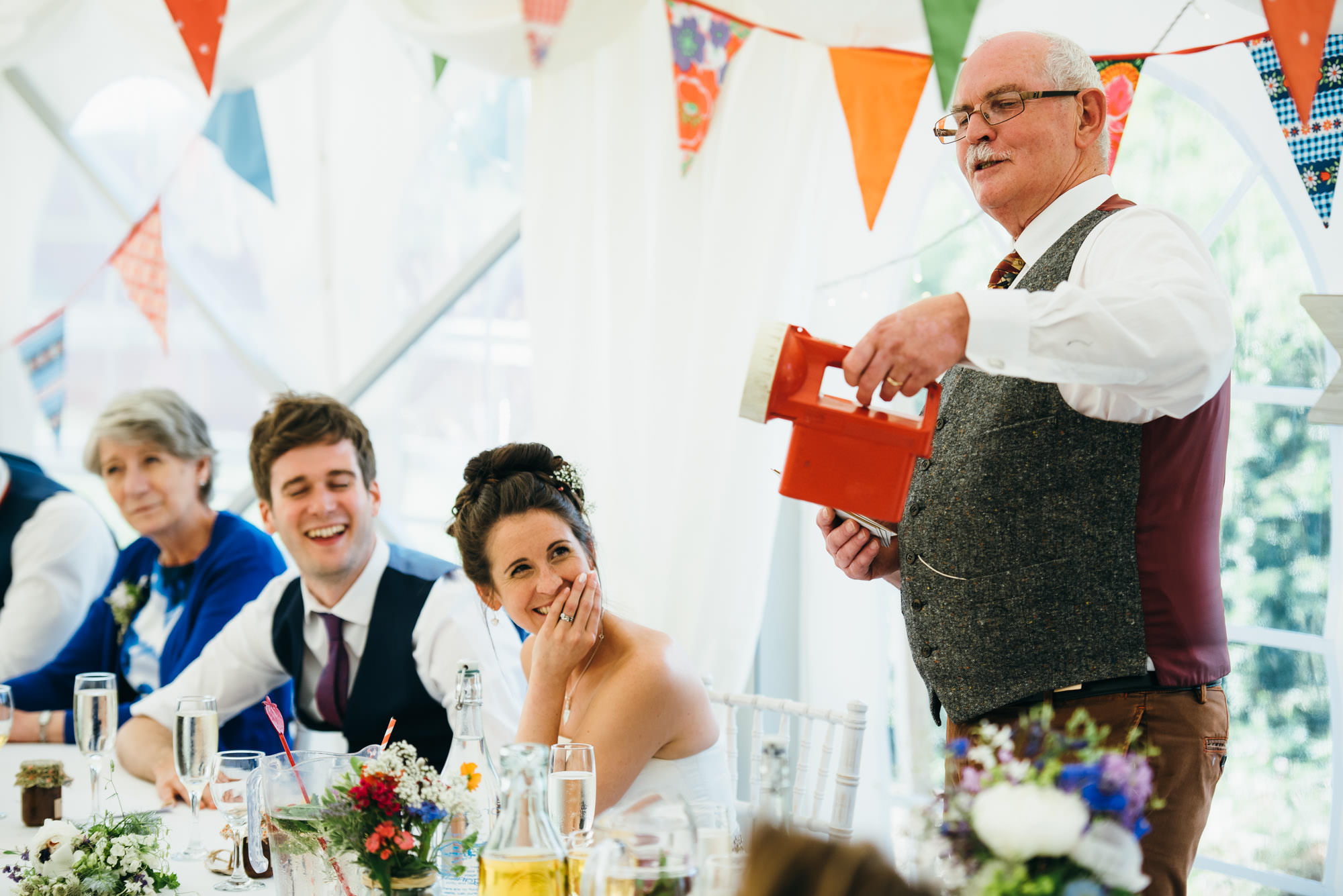 Huntstile organic farm wedding speeches
