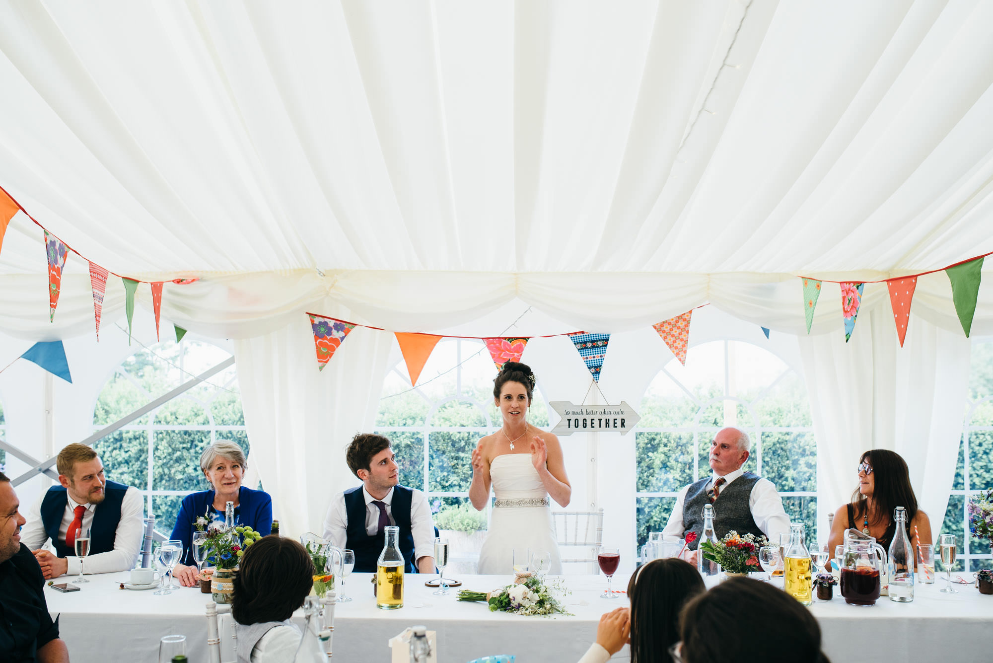 speeches at Huntstile organic farm wedding