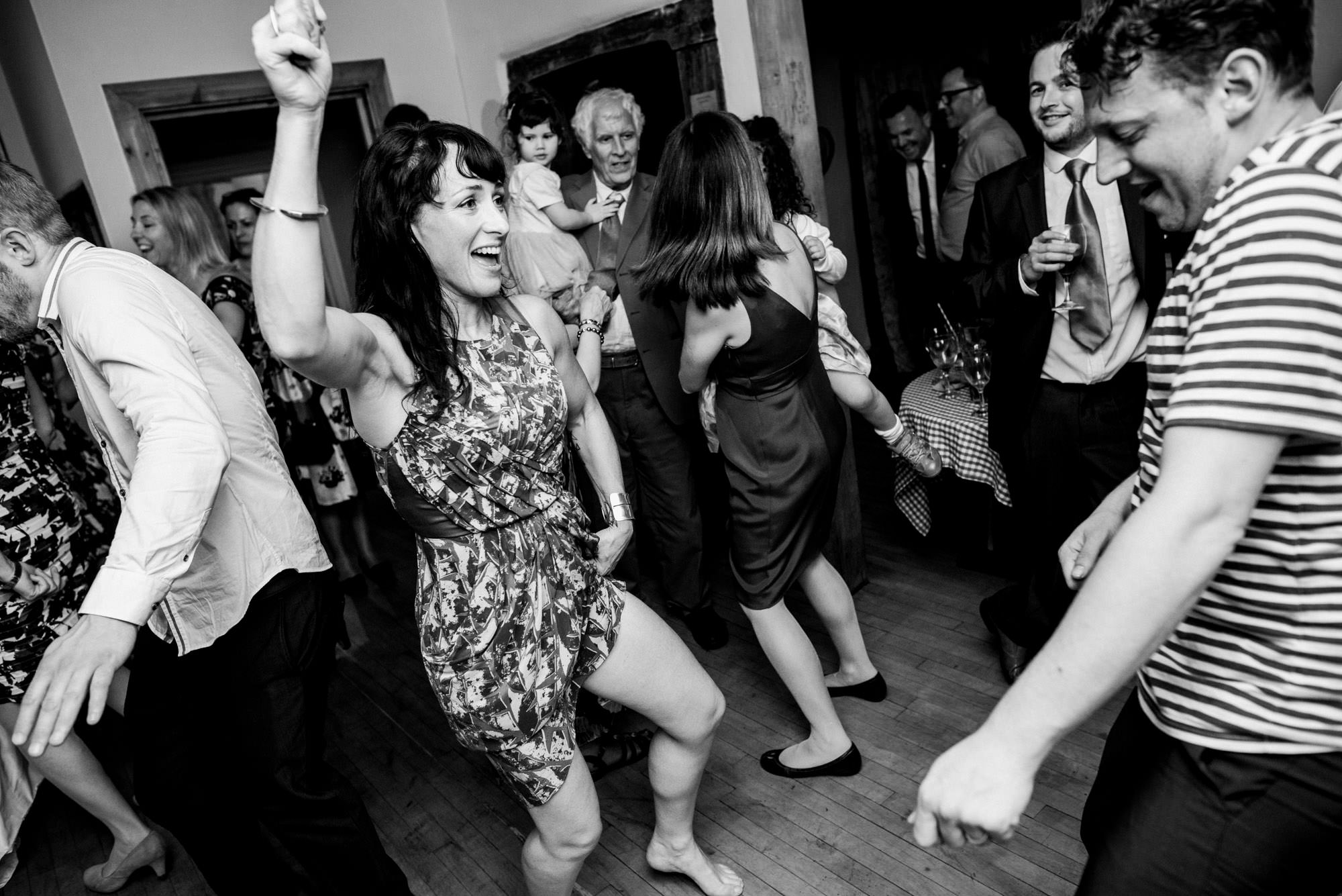 Dancing at Huntstile organic farm wedding