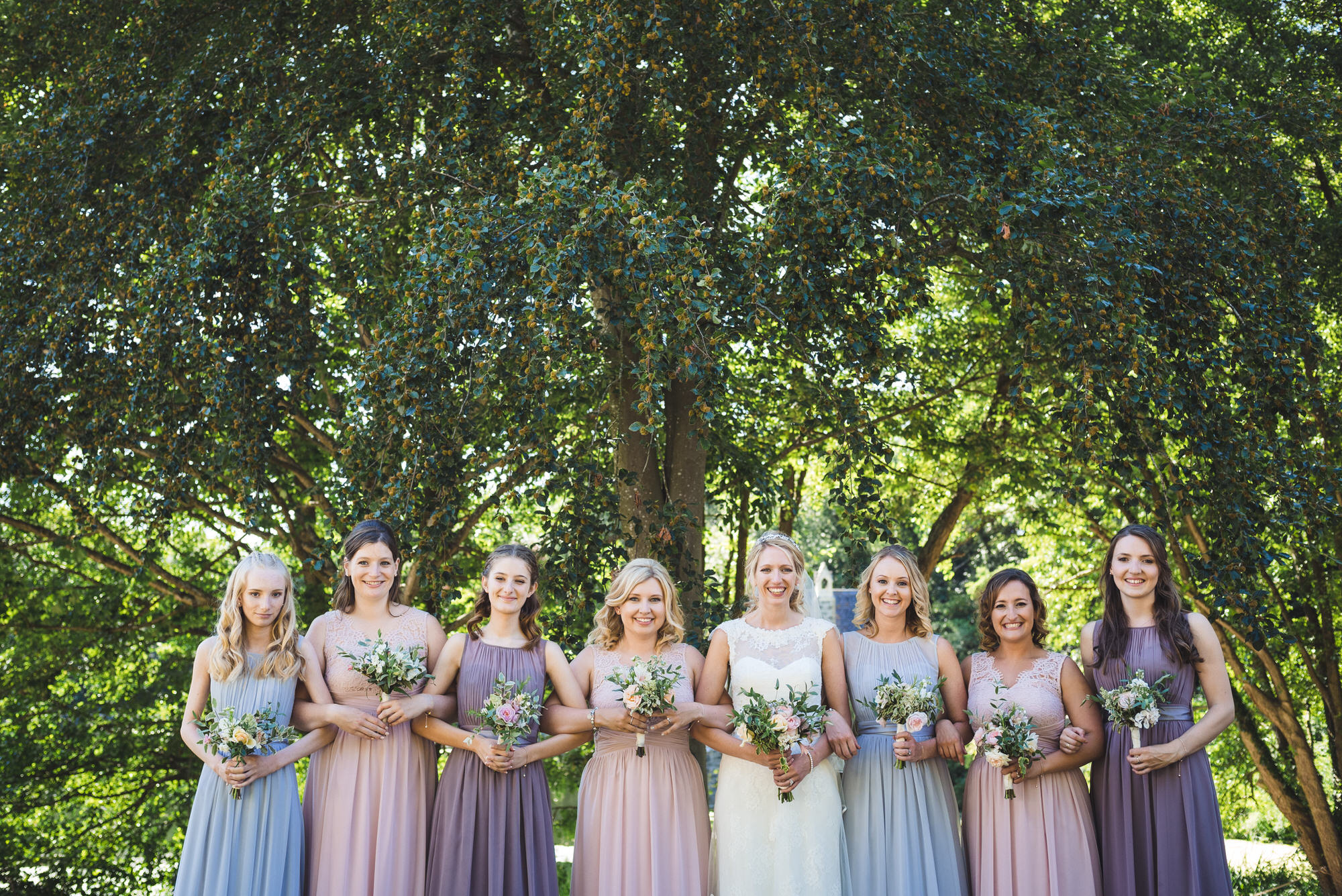 Tortworth lake wedding bridal party 20