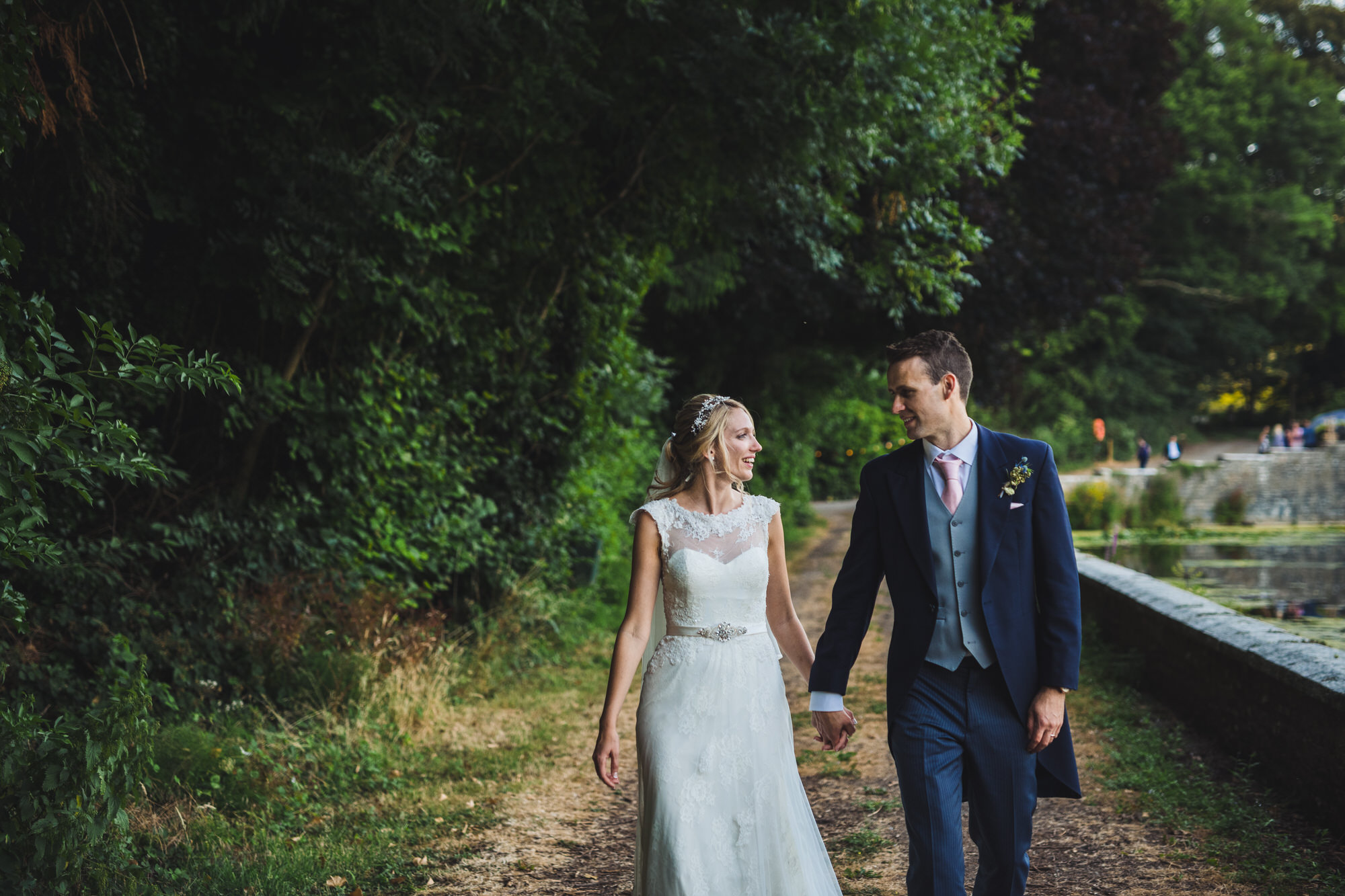 Tortworth lake wedding bride and groom 33
