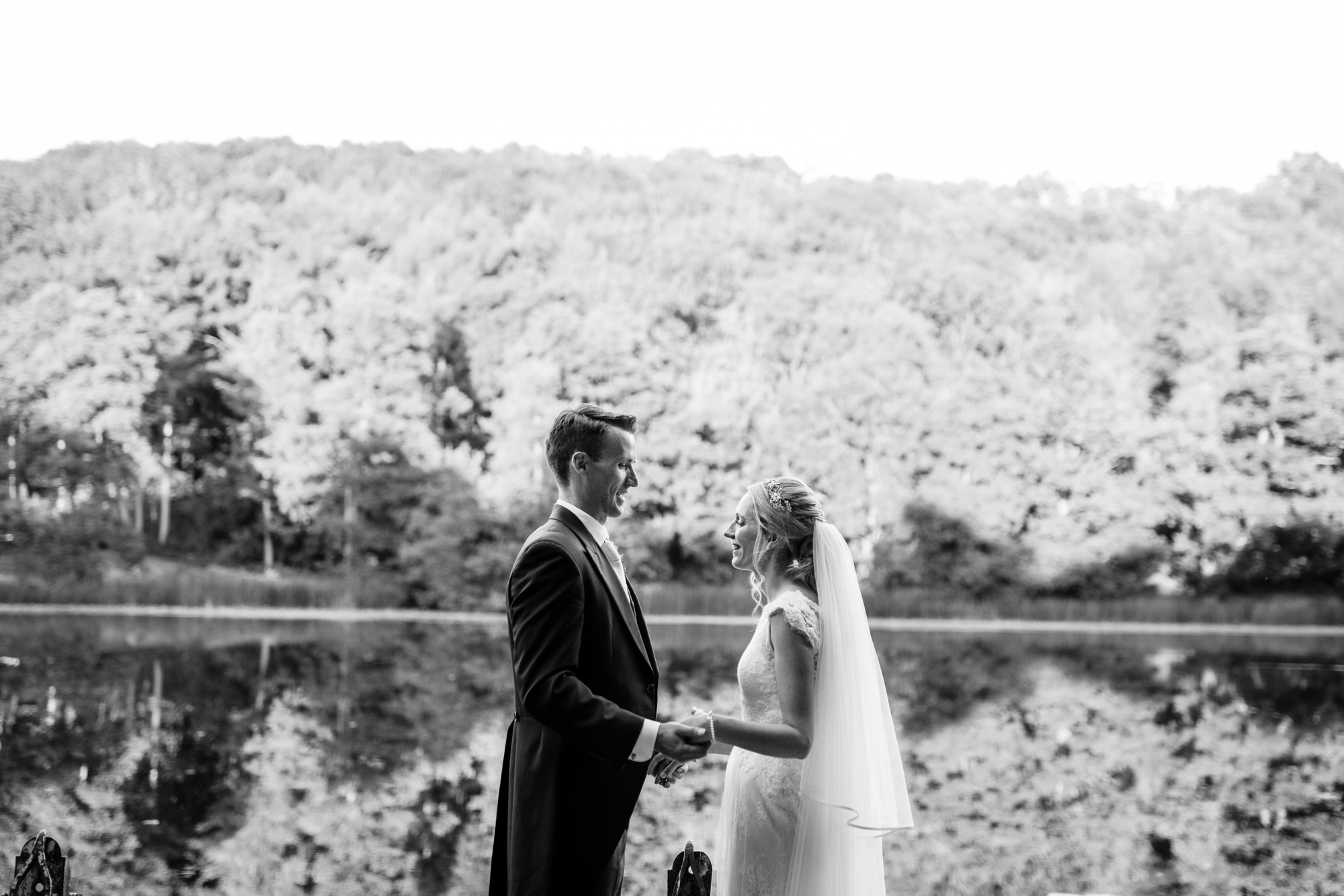 Tortworth lake wedding bride and groom 34