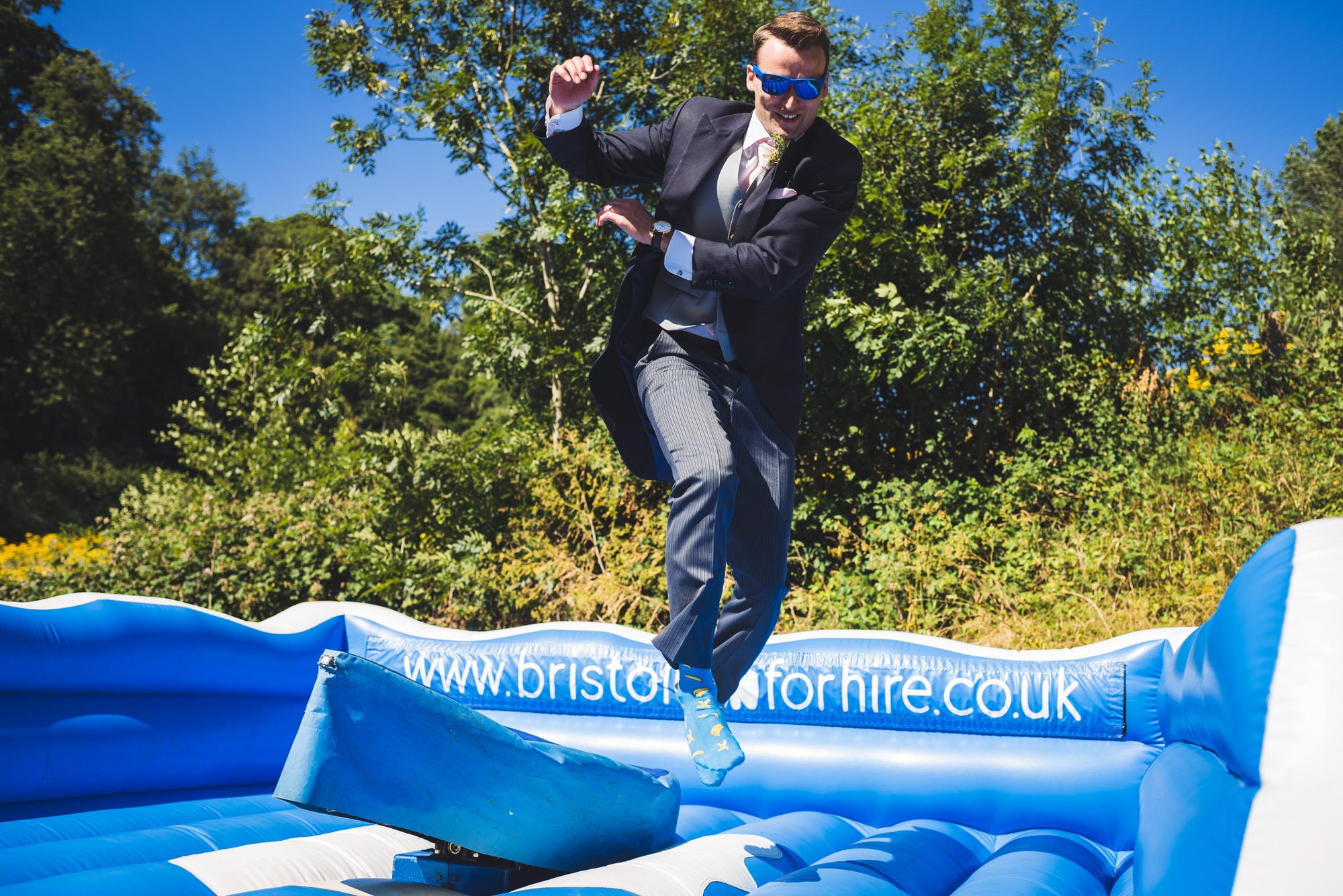 Tortworth lake wedding surfing 17