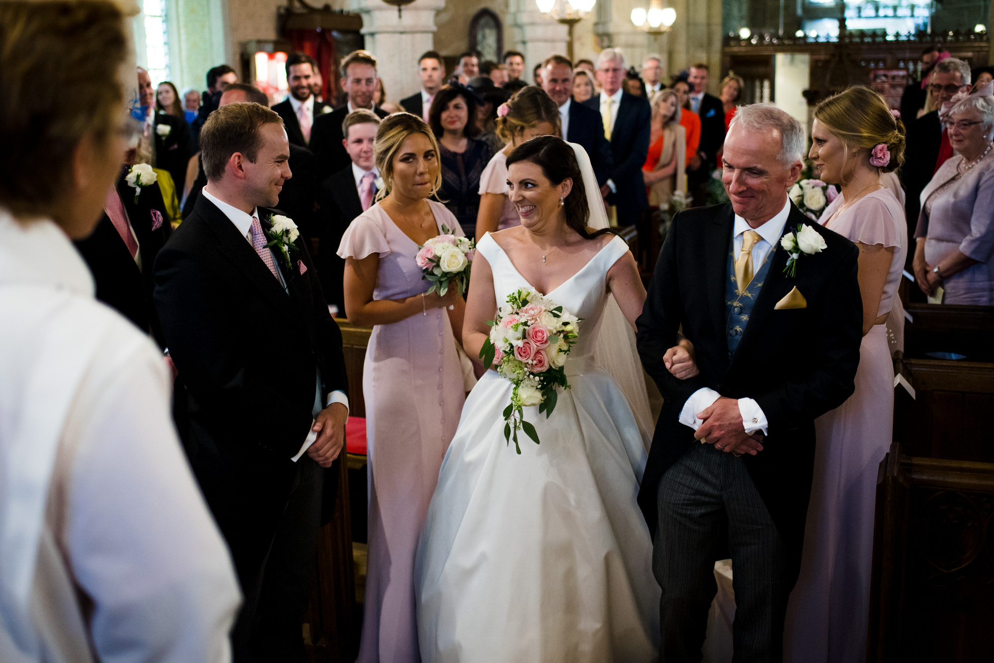 wedding at St Peters Church, Noss Mayo
