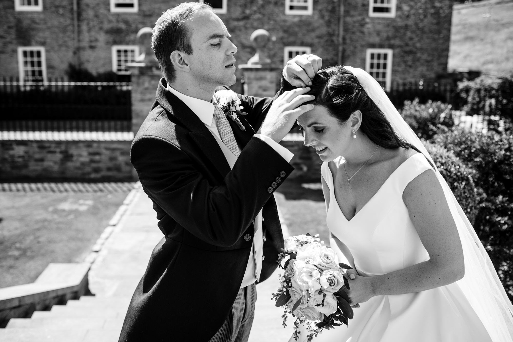 Bride and Groom at Shilstone house