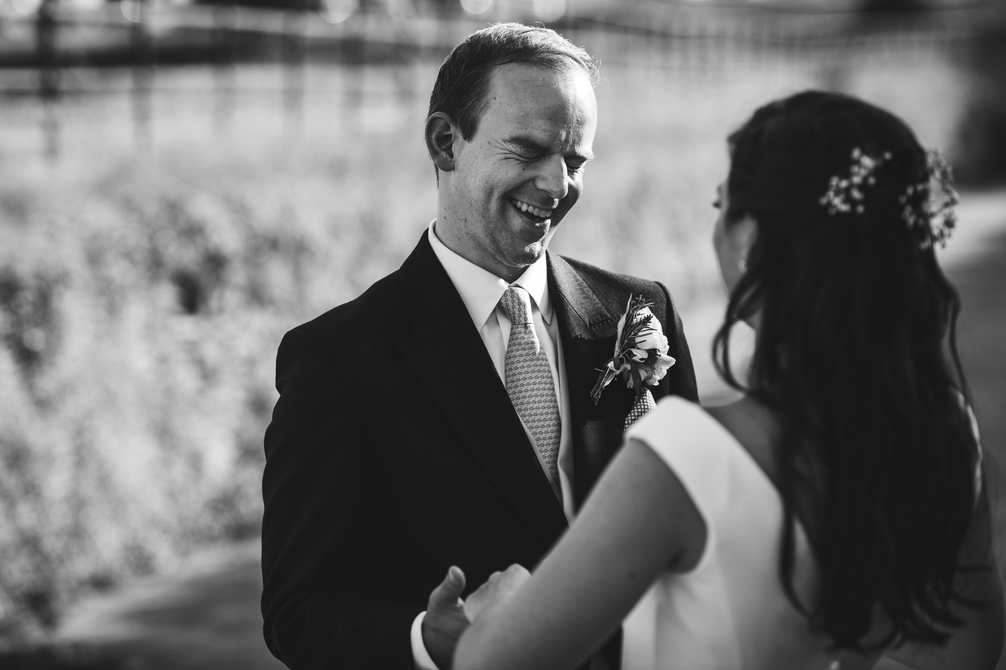 groom laughs Shilstone House