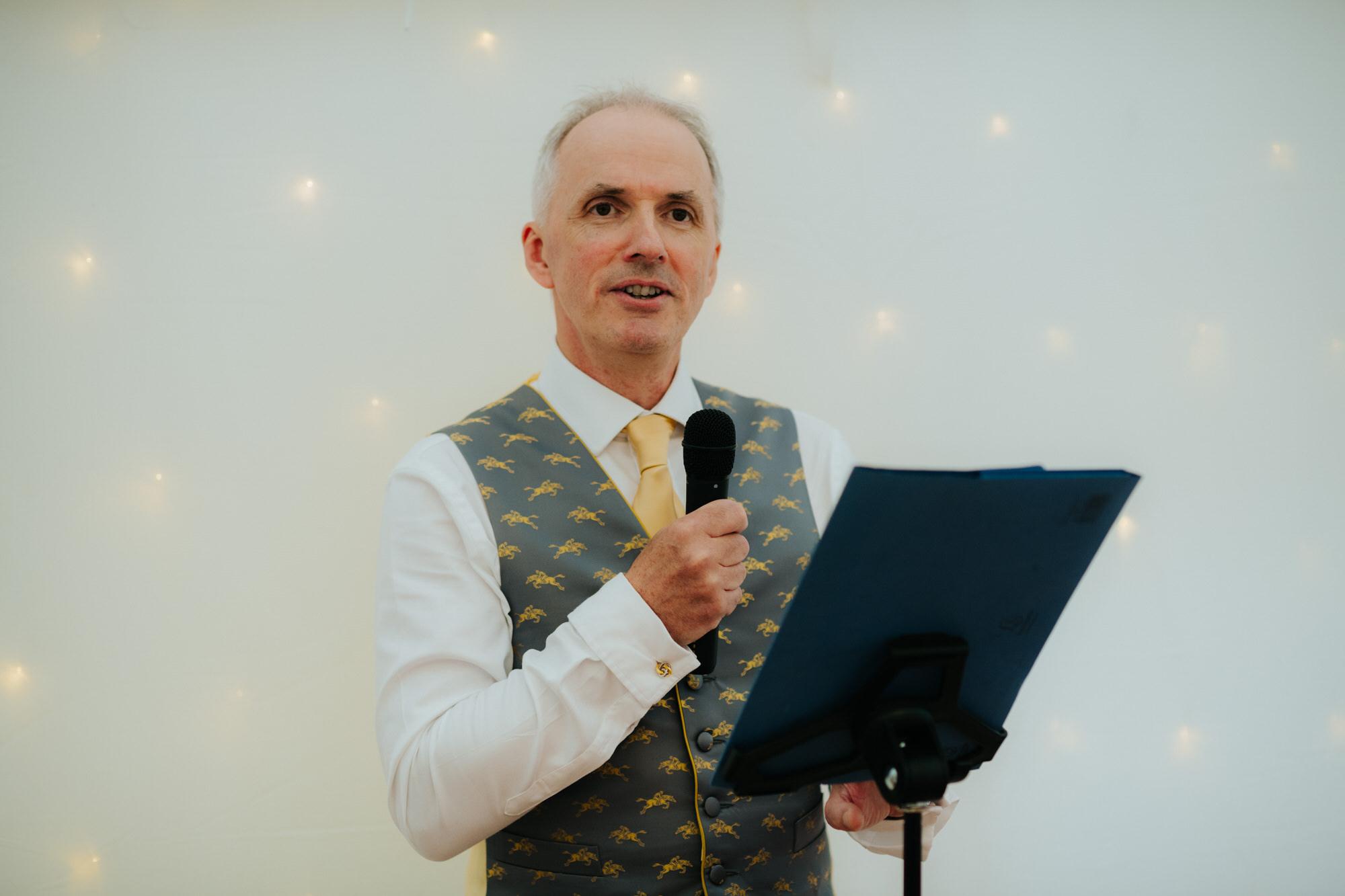 Shilstone House father of bride wedding speech