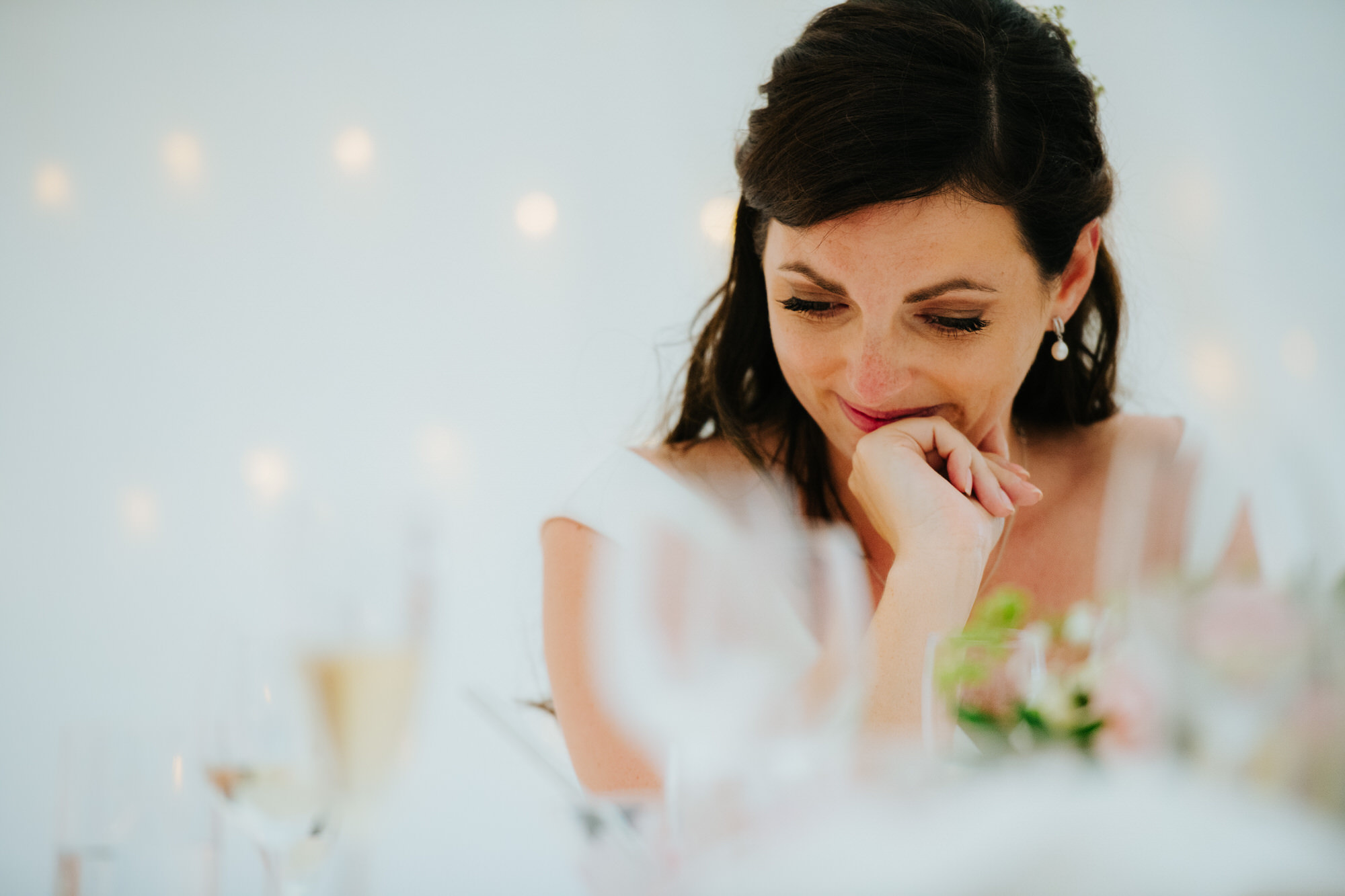 bride reacts to speeches at Shilstone