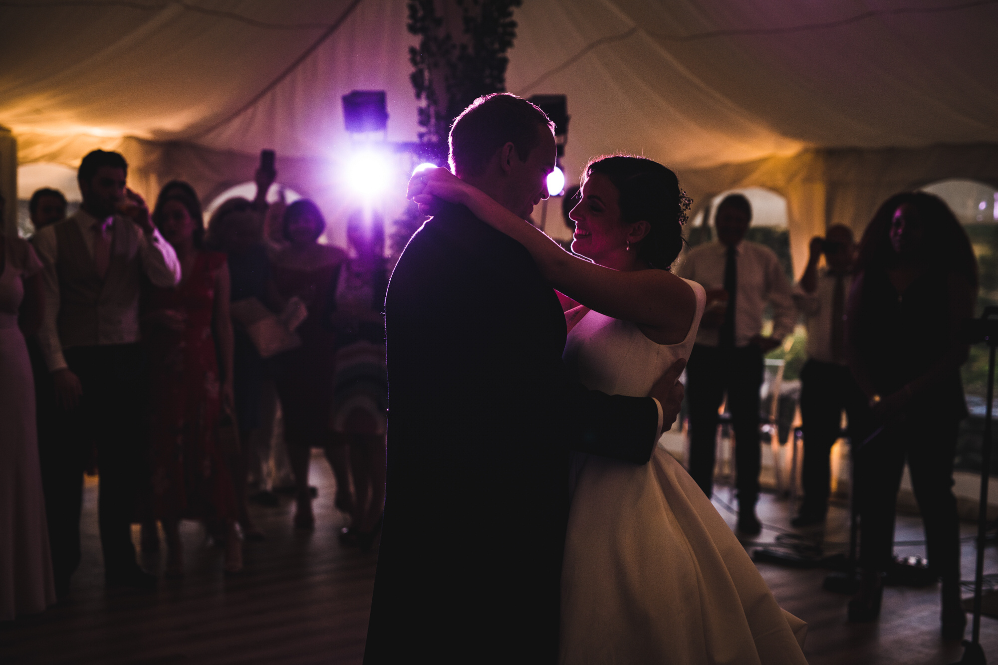first dance at Shilstone House wedding
