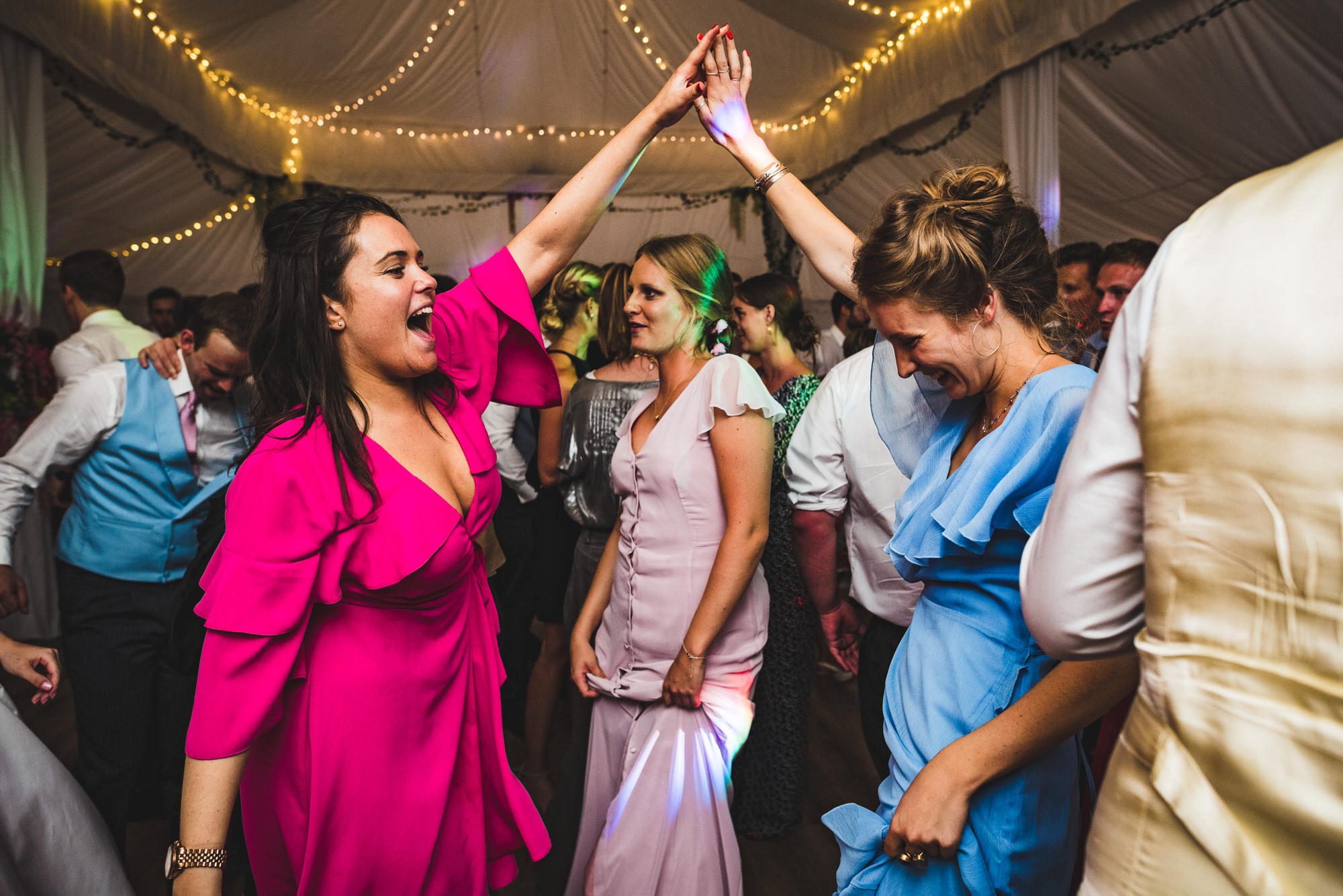 party at Shilstone House wedding