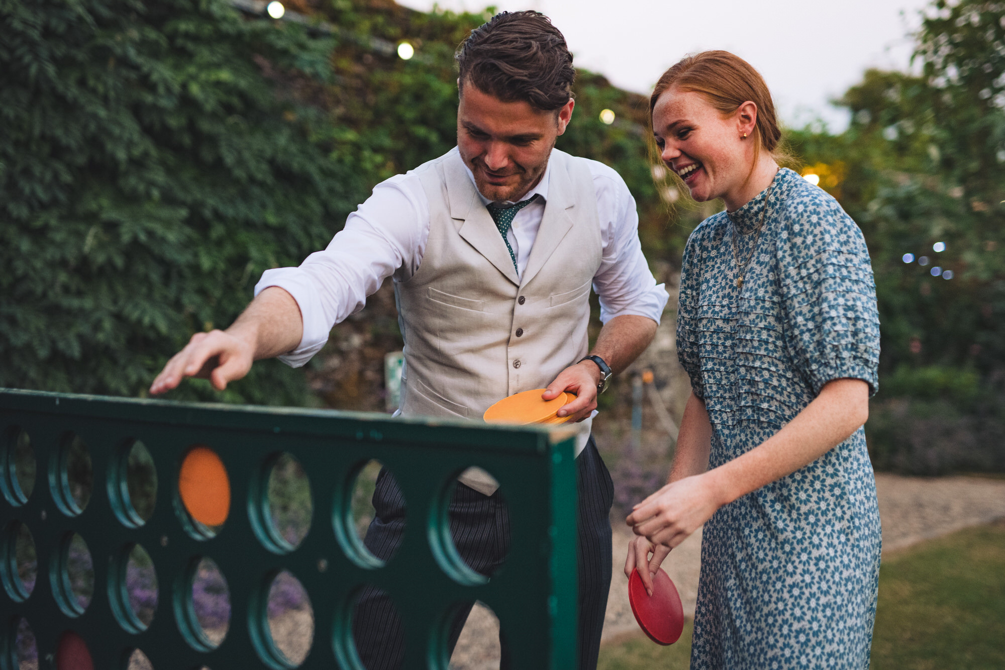 connect four at Shilstone House wedding