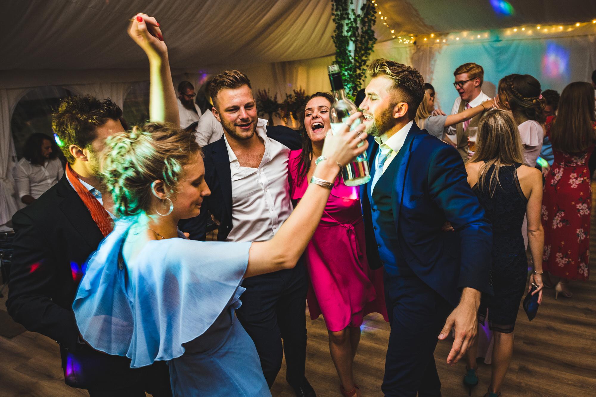 celebrating at Shilstone House wedding