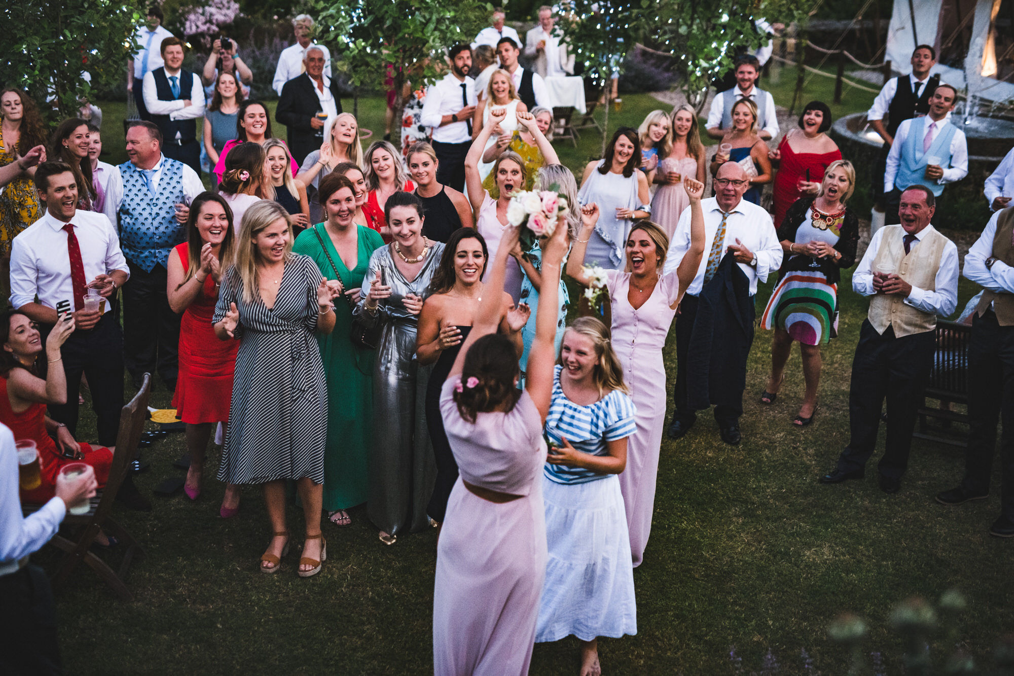 Bouquet throw at Shilstone House