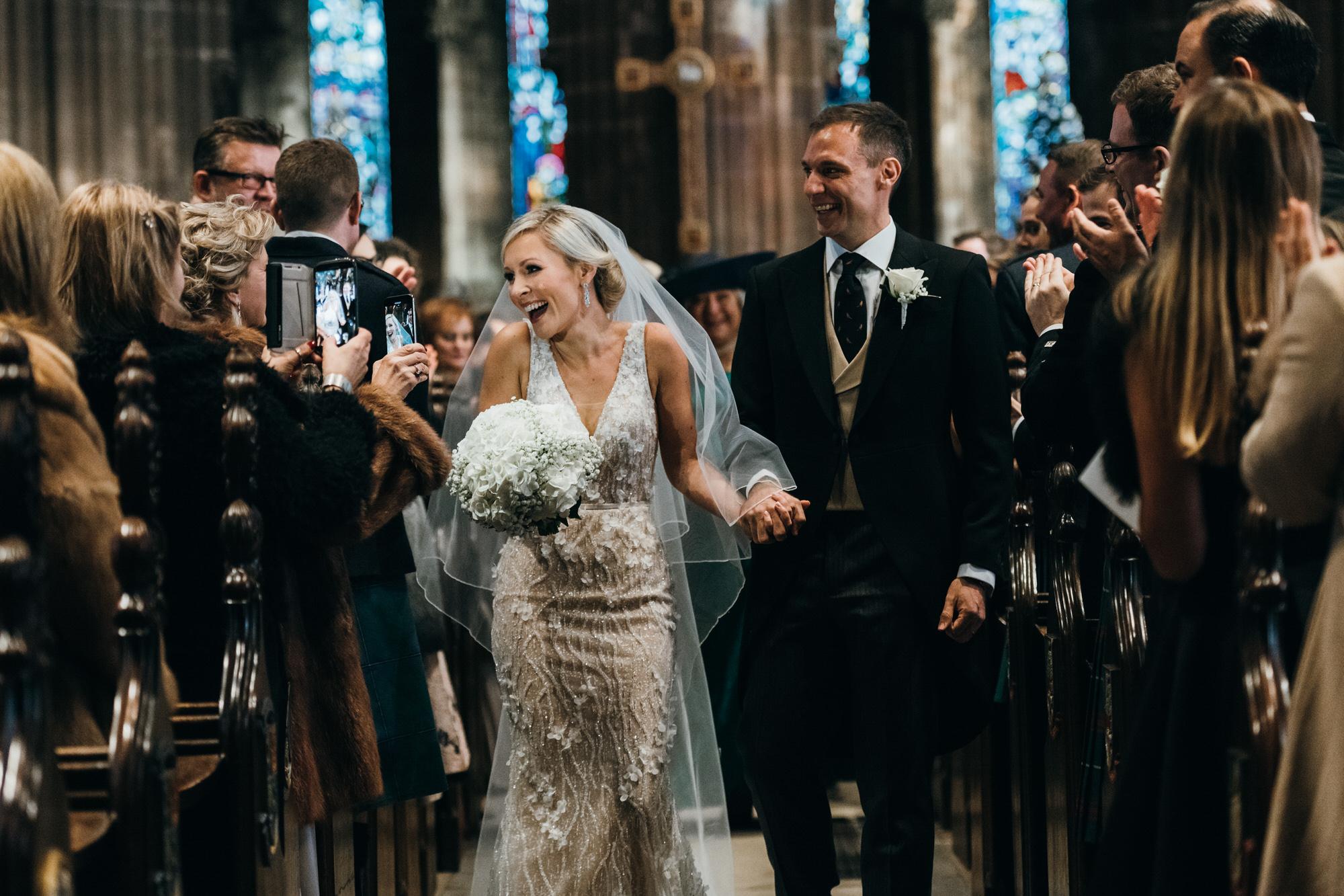 Bride and Groom Glasgow wedding