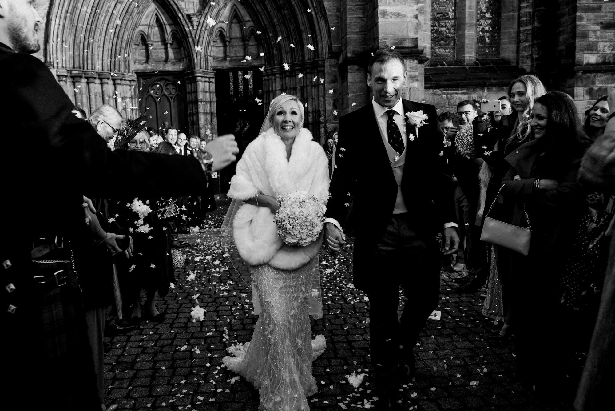 Glasgow wedding confetti