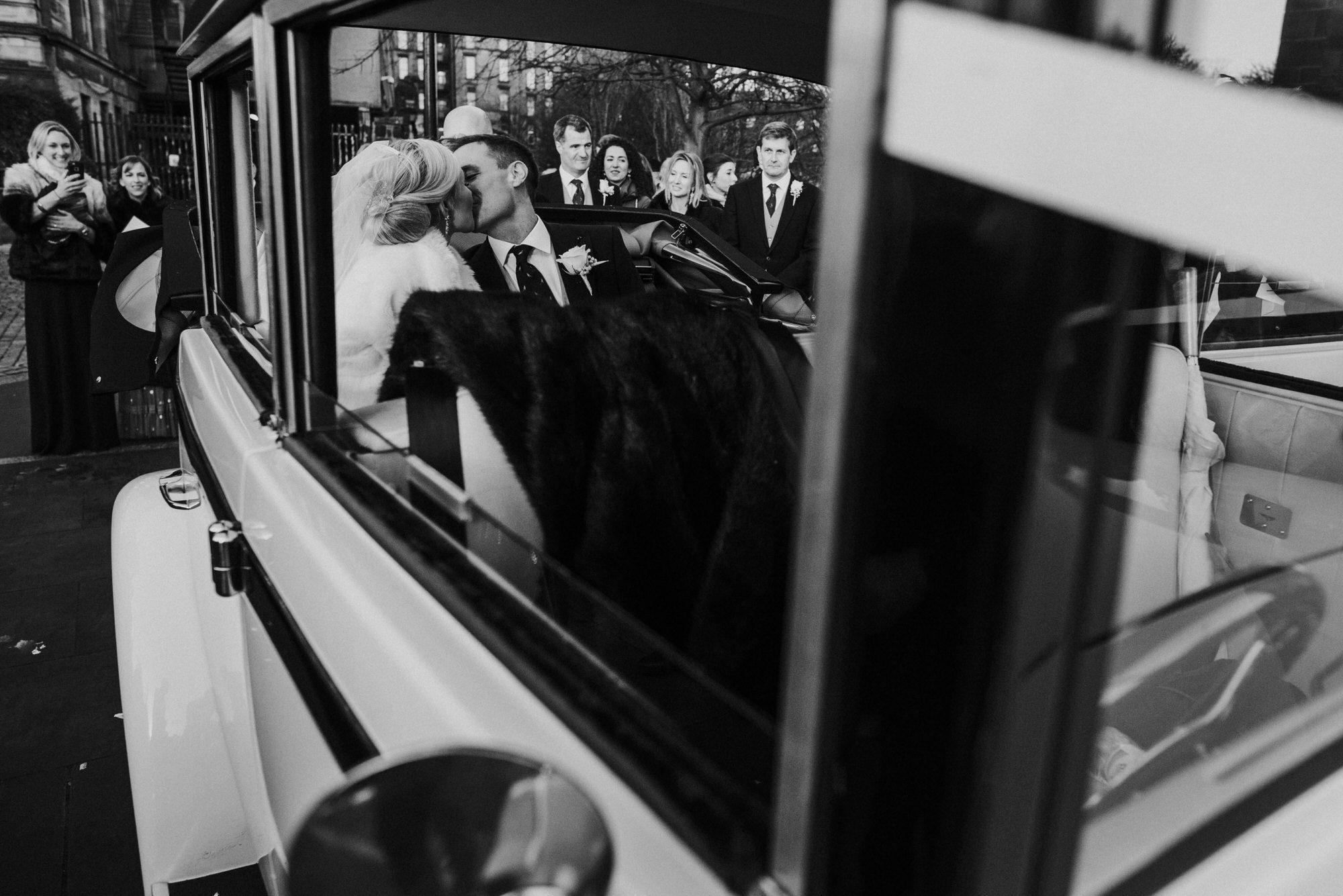 Glasgow wedding Bride and Groom