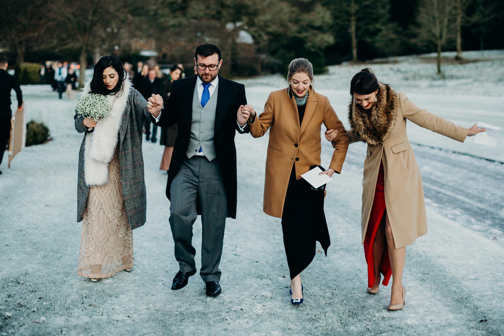 Duntreath Castle winter wedding
