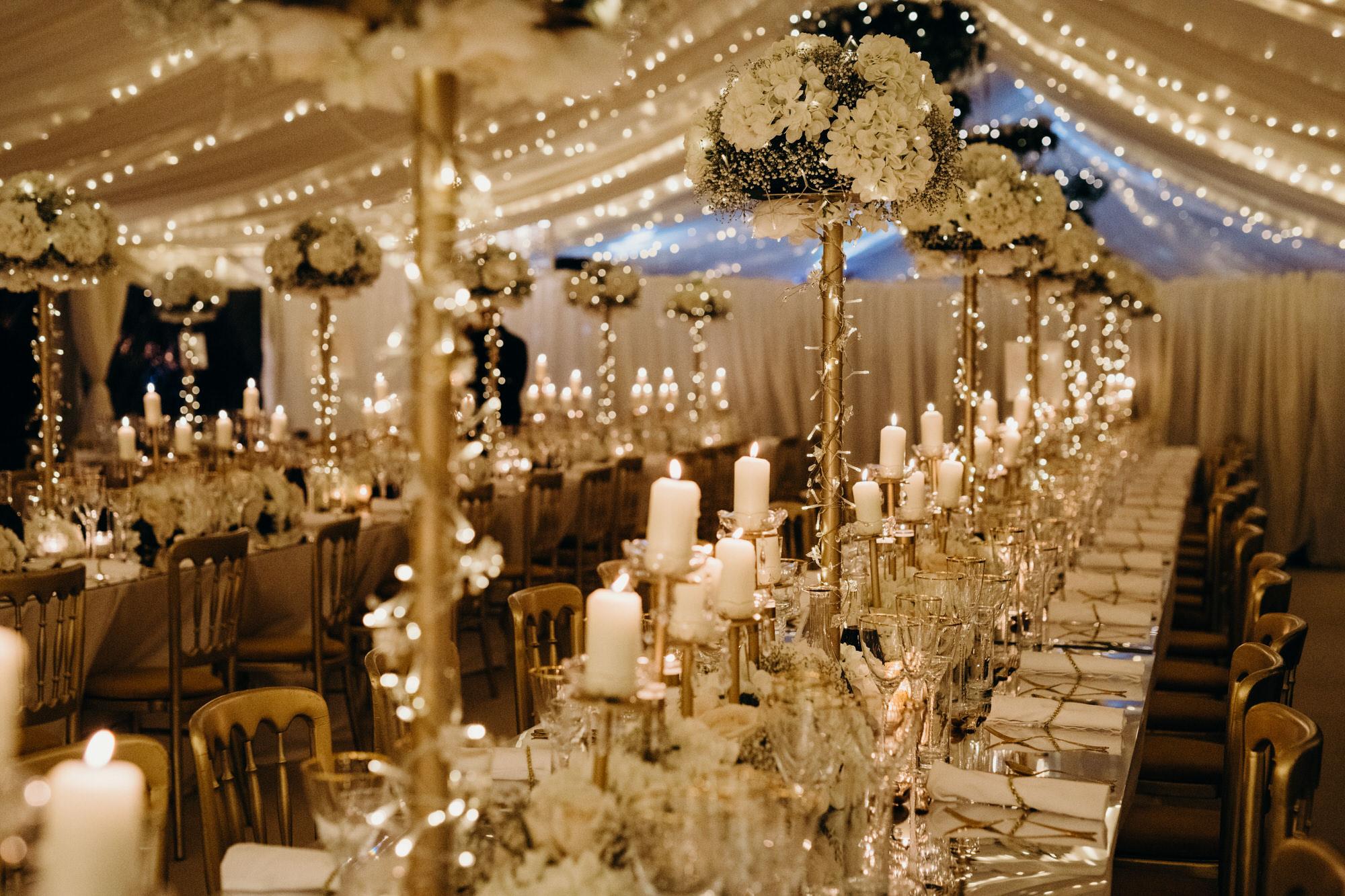 Duntreath Castle marquee wedding