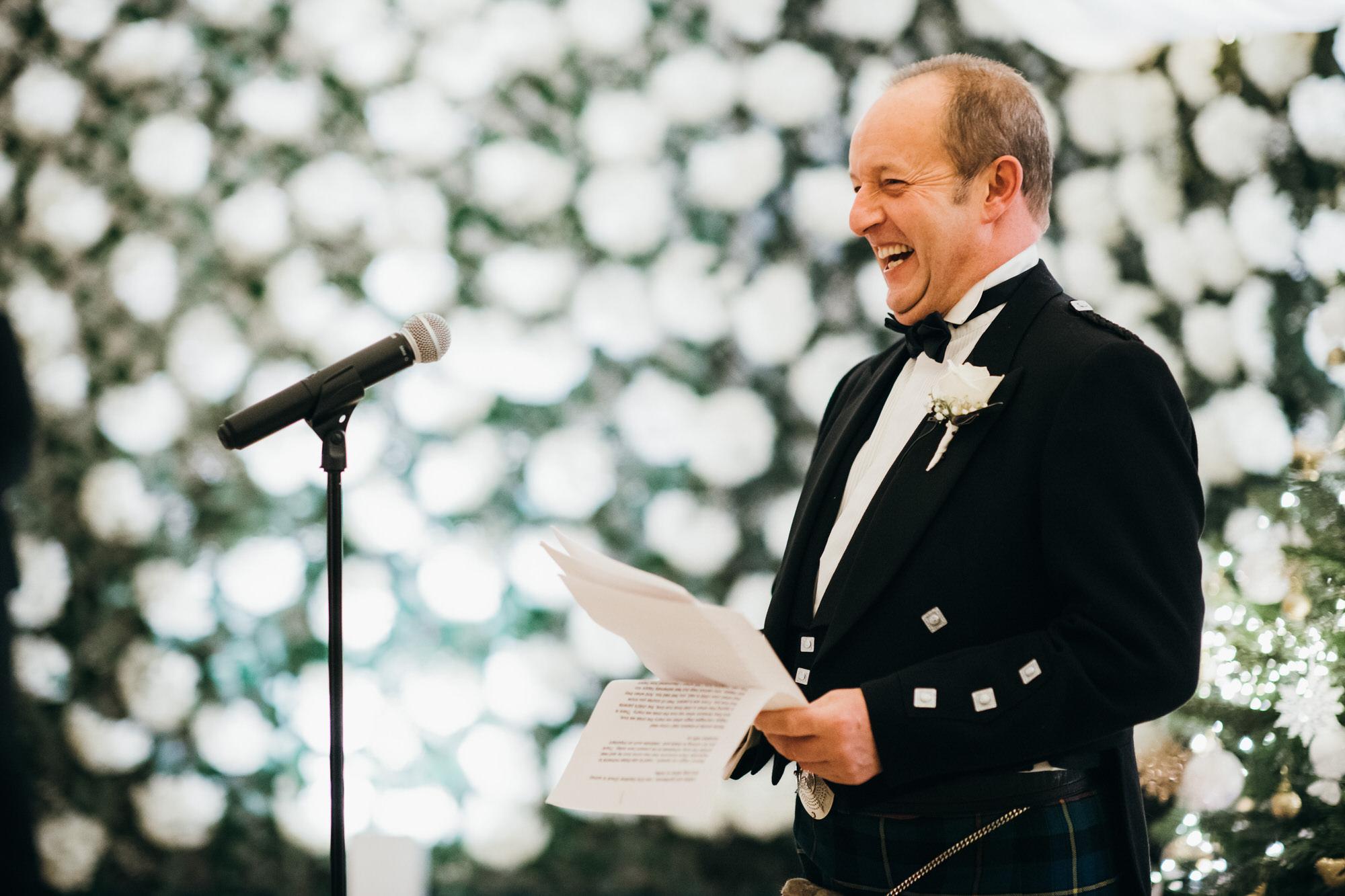Glasgow wedding photography speeches