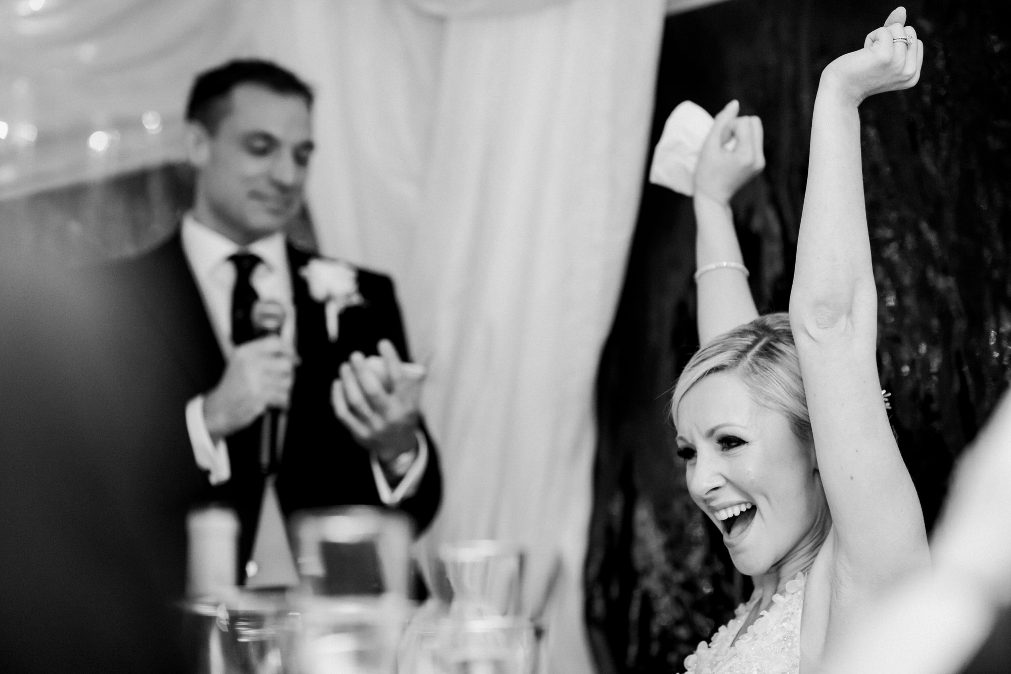 Cheer from bride